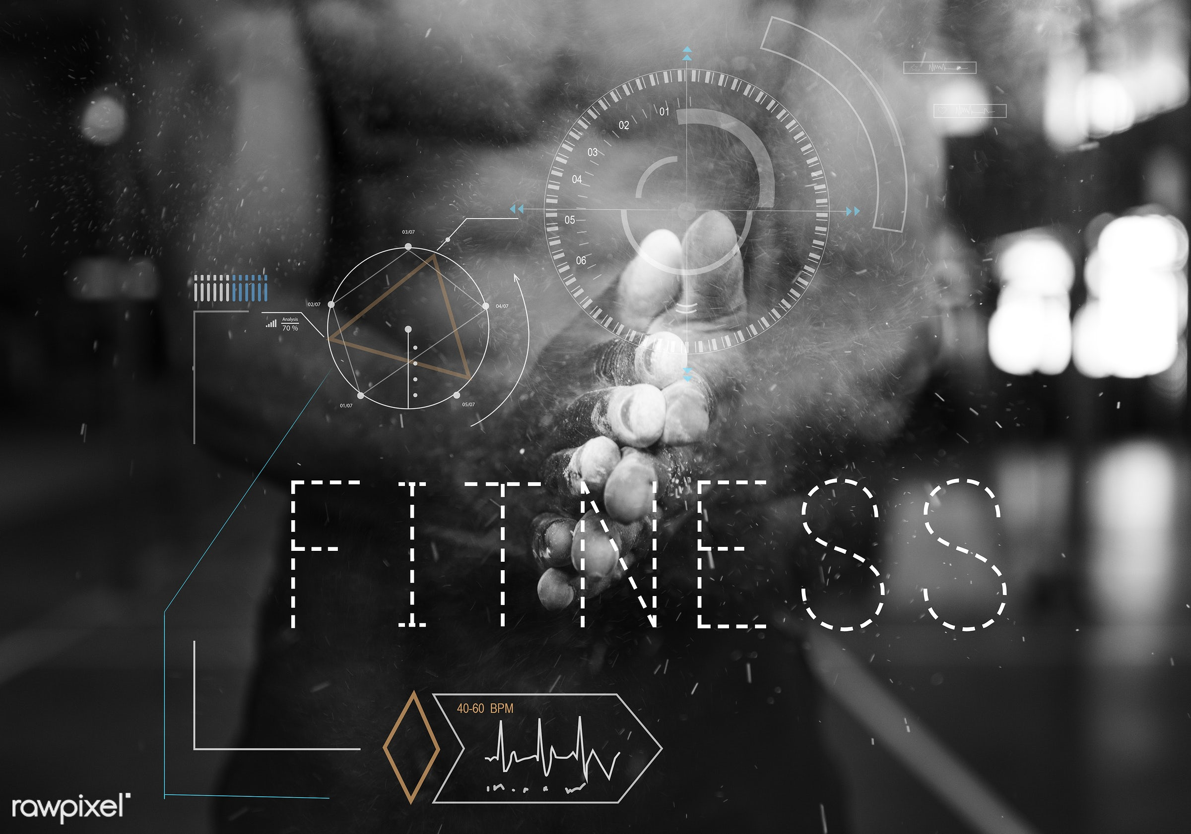fitness, bodybuilding, pulse, word, activity, aerobics, athletic, body, cardio, clapping, exercise, fit, get fit!, gym...