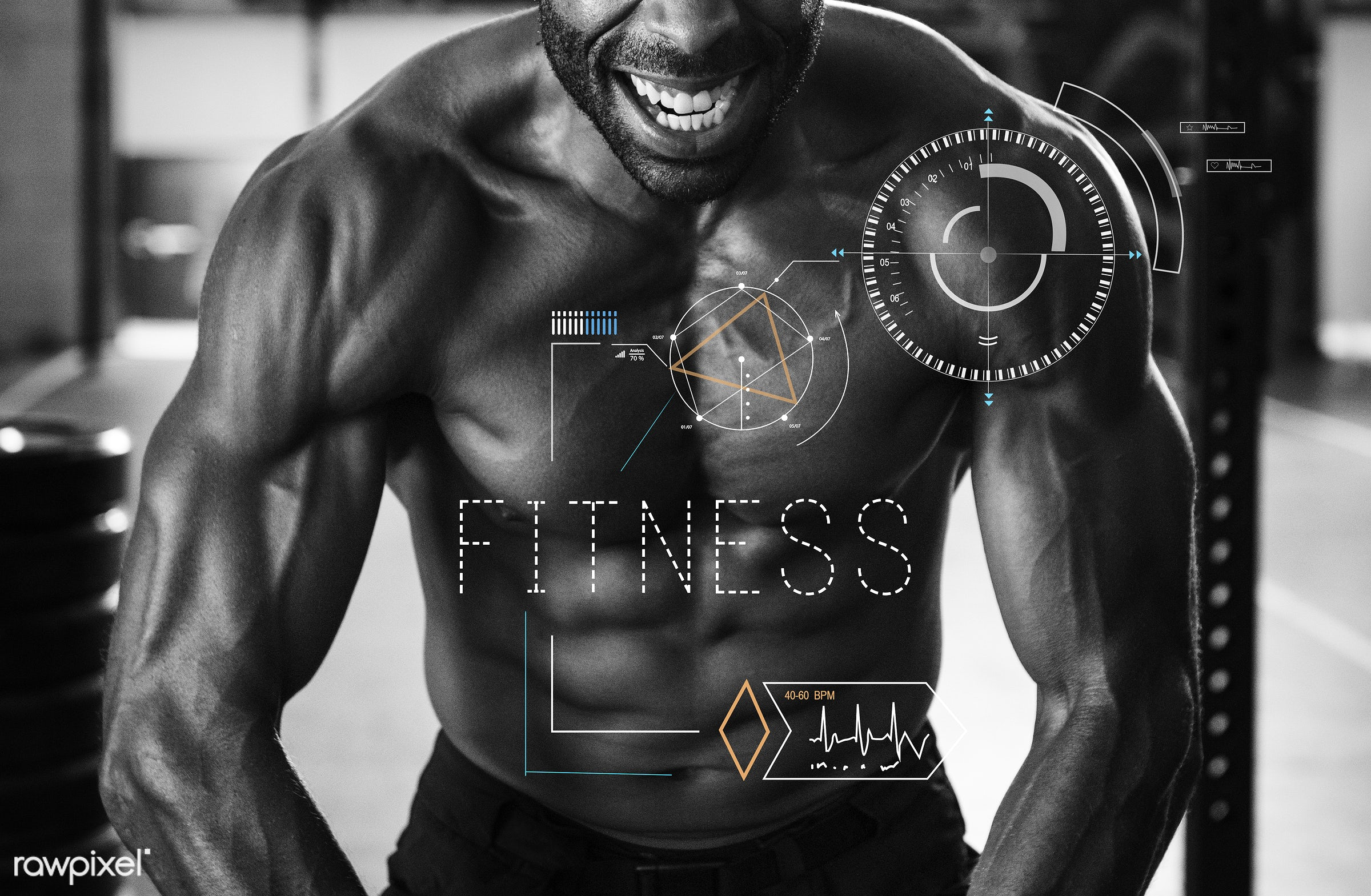 Body flex - fitness, body, muscle, abs, activity, adult, aerobics, african descent, arms, athletic, biceps, bodybuilder,...