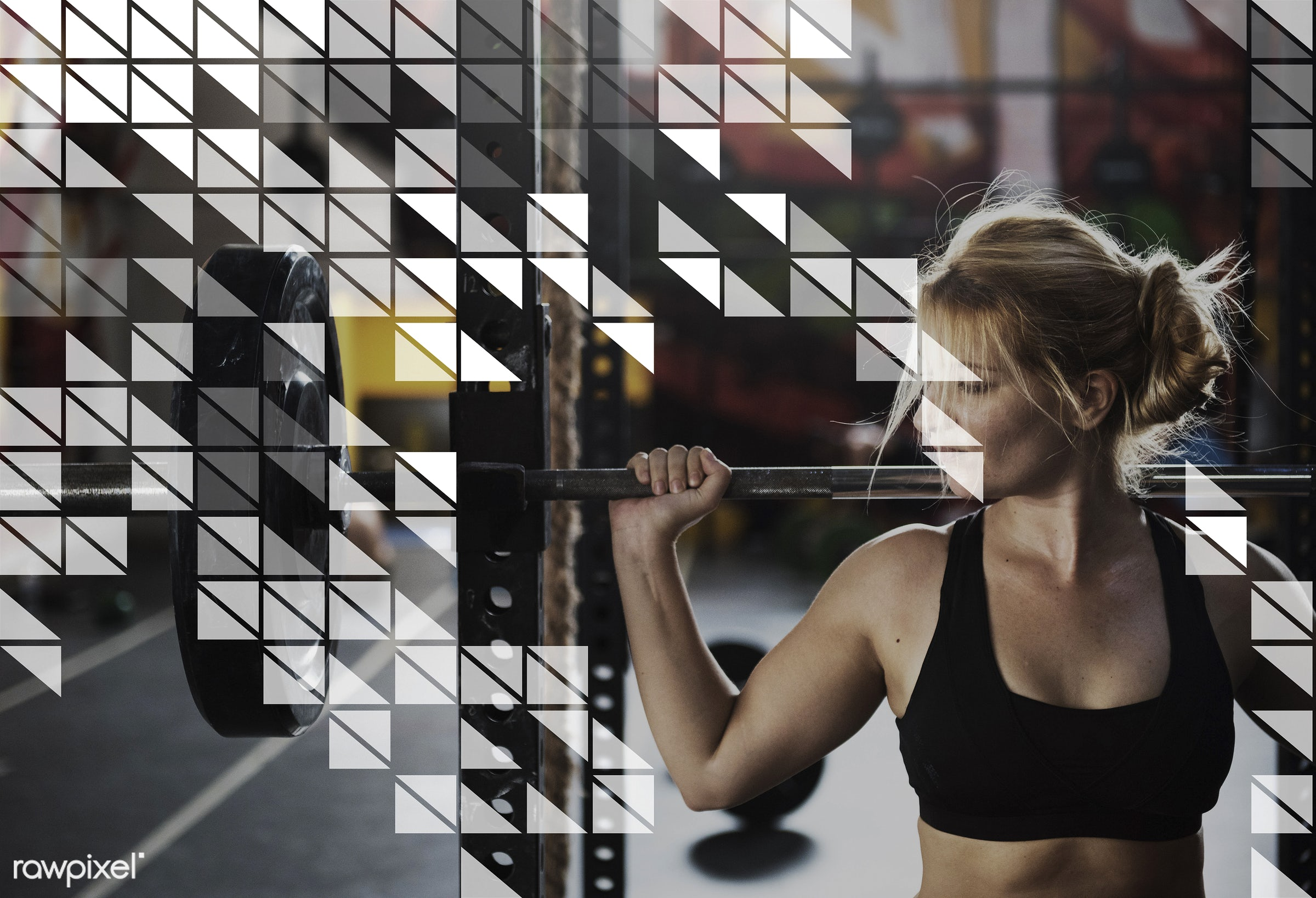 barbell, fitness, abstract, art, be strong, bestro, black, black people, blonde, caucasian, design, geometry, grab, graphic...