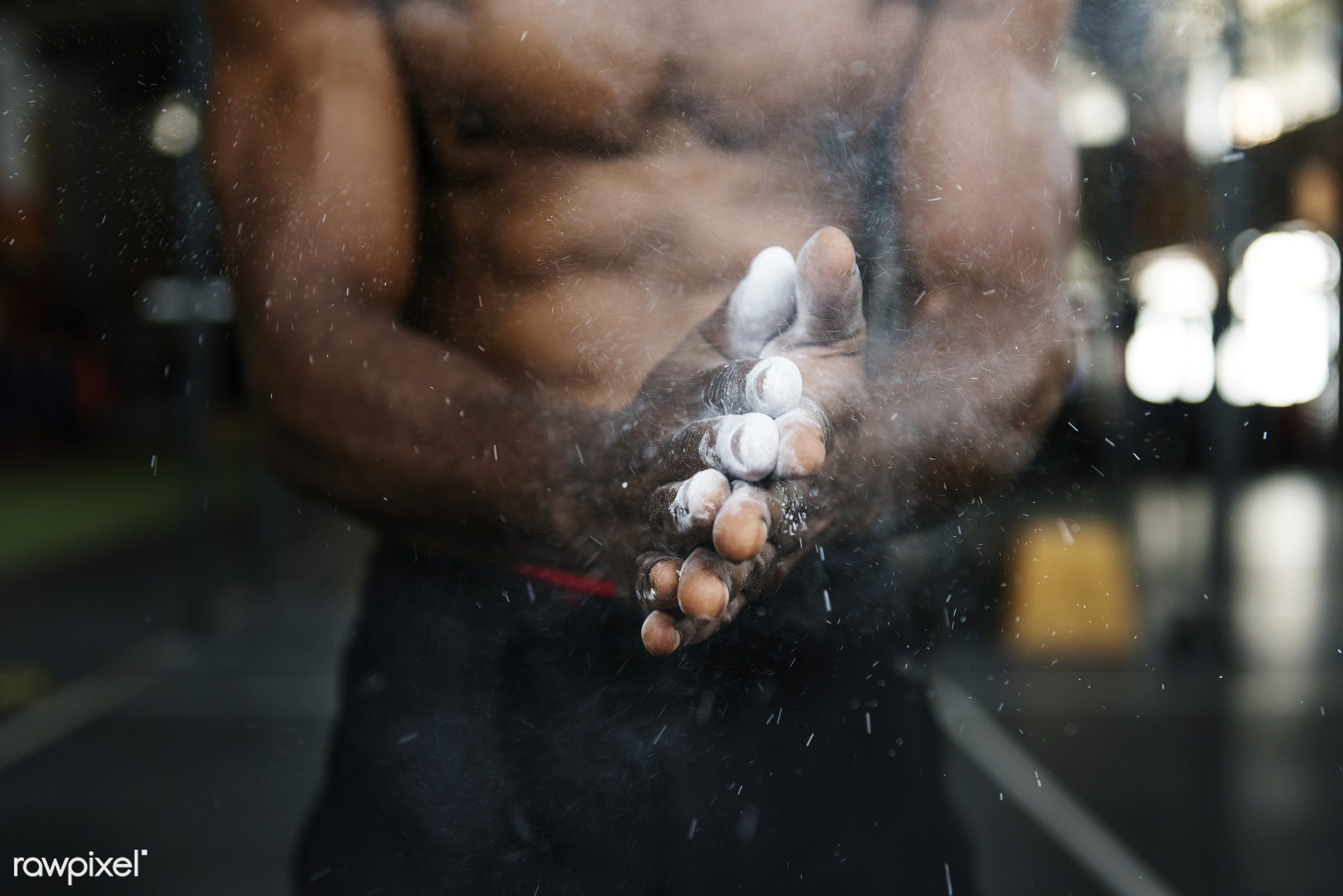 Muscle man at the gym - active, activity, african descent, athlete, athletic, attractive, body, buff, fit, fitness, gym,...