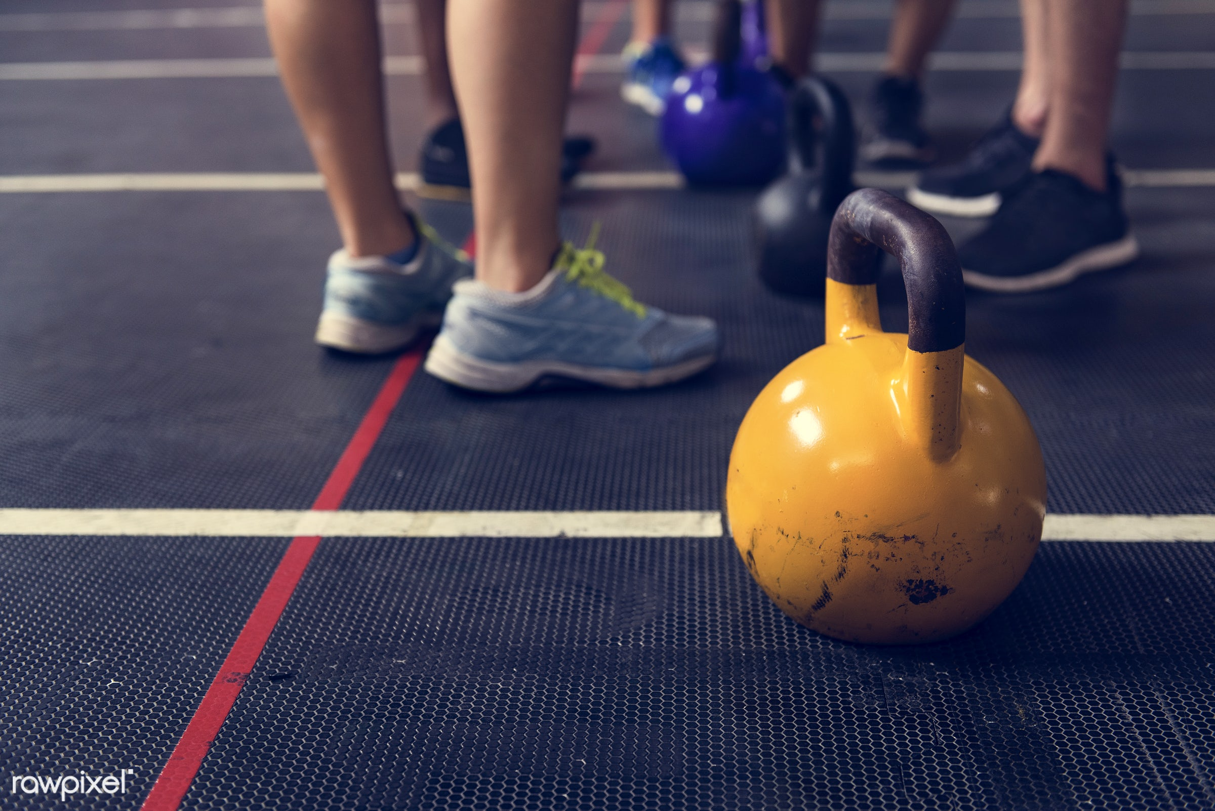 At the gym - active, activity, athlete, athletic, diverse, diversity, equipment, exercise, fit, fitness, footwear, free...