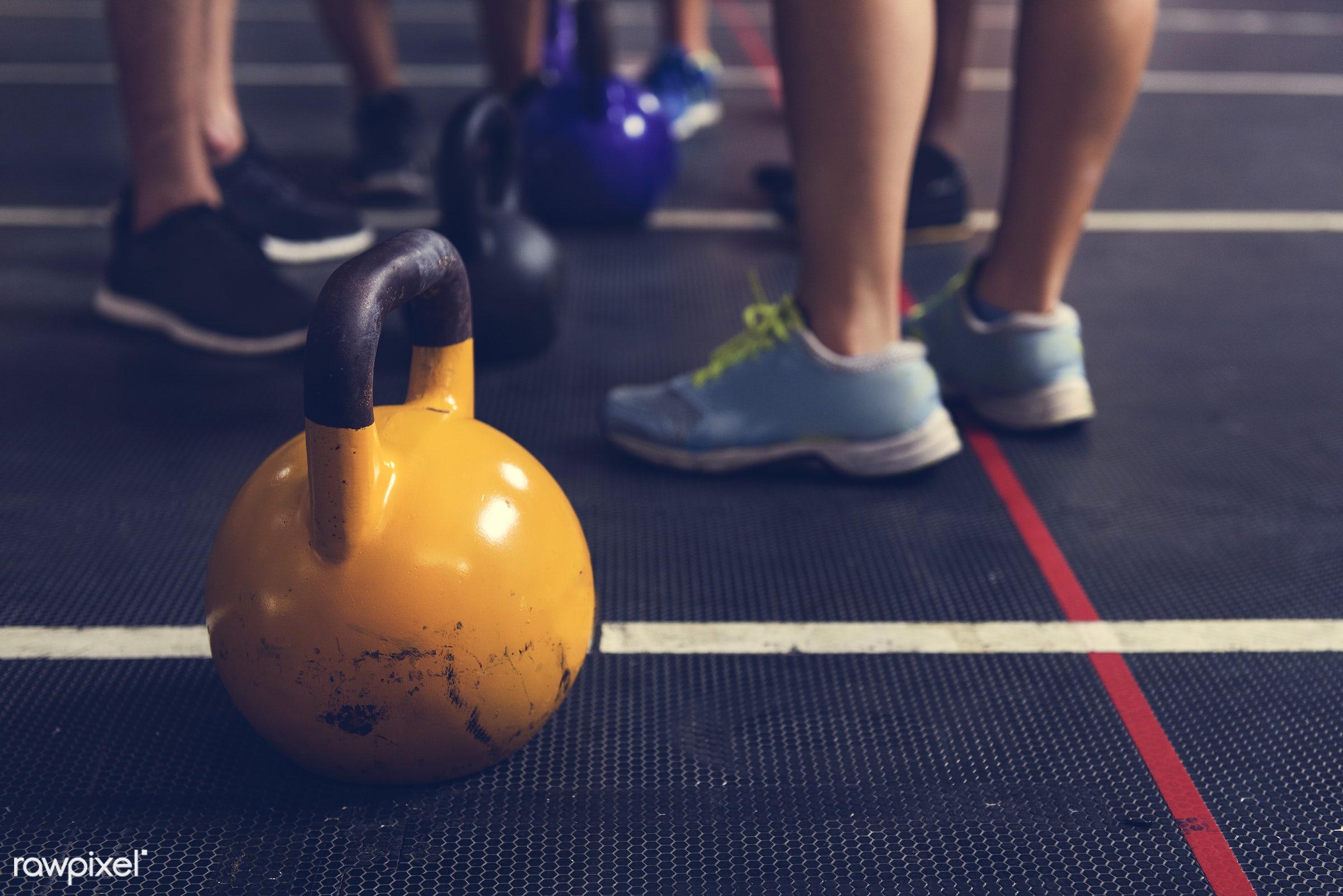 Active People Sport Workout Concept - active, activity, athlete, athletic, diverse, diversity, equipment, exercise, fit,...