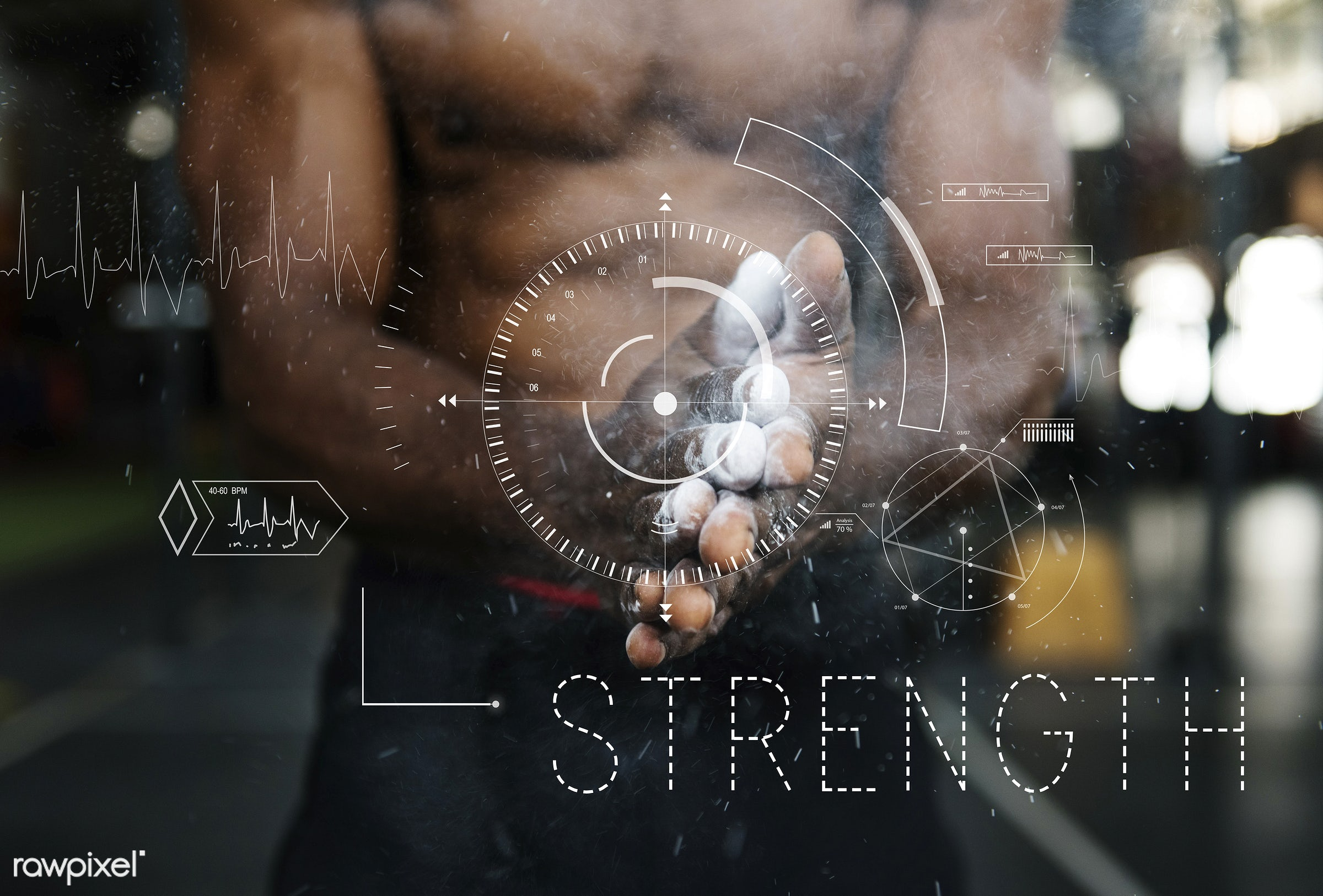 body, bodybuilding, clapping, condition, crosshair, daily, energy, exercise, fit, fitness, graphic, gym, gym equipment,...