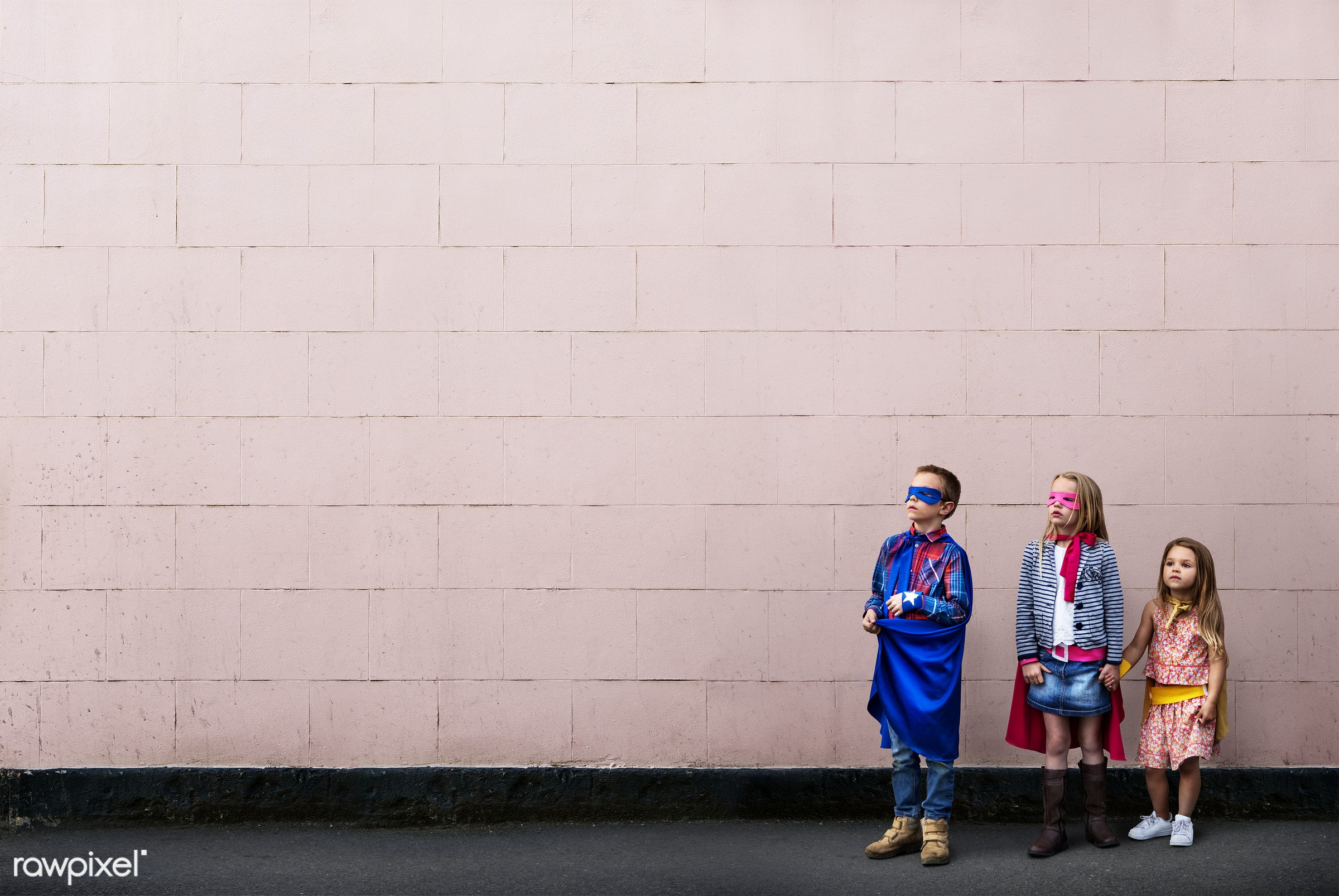 superhero, activity, aspirations, brick wall, brother, building, cheerful, child, childhood, color, colorful, confidence,...