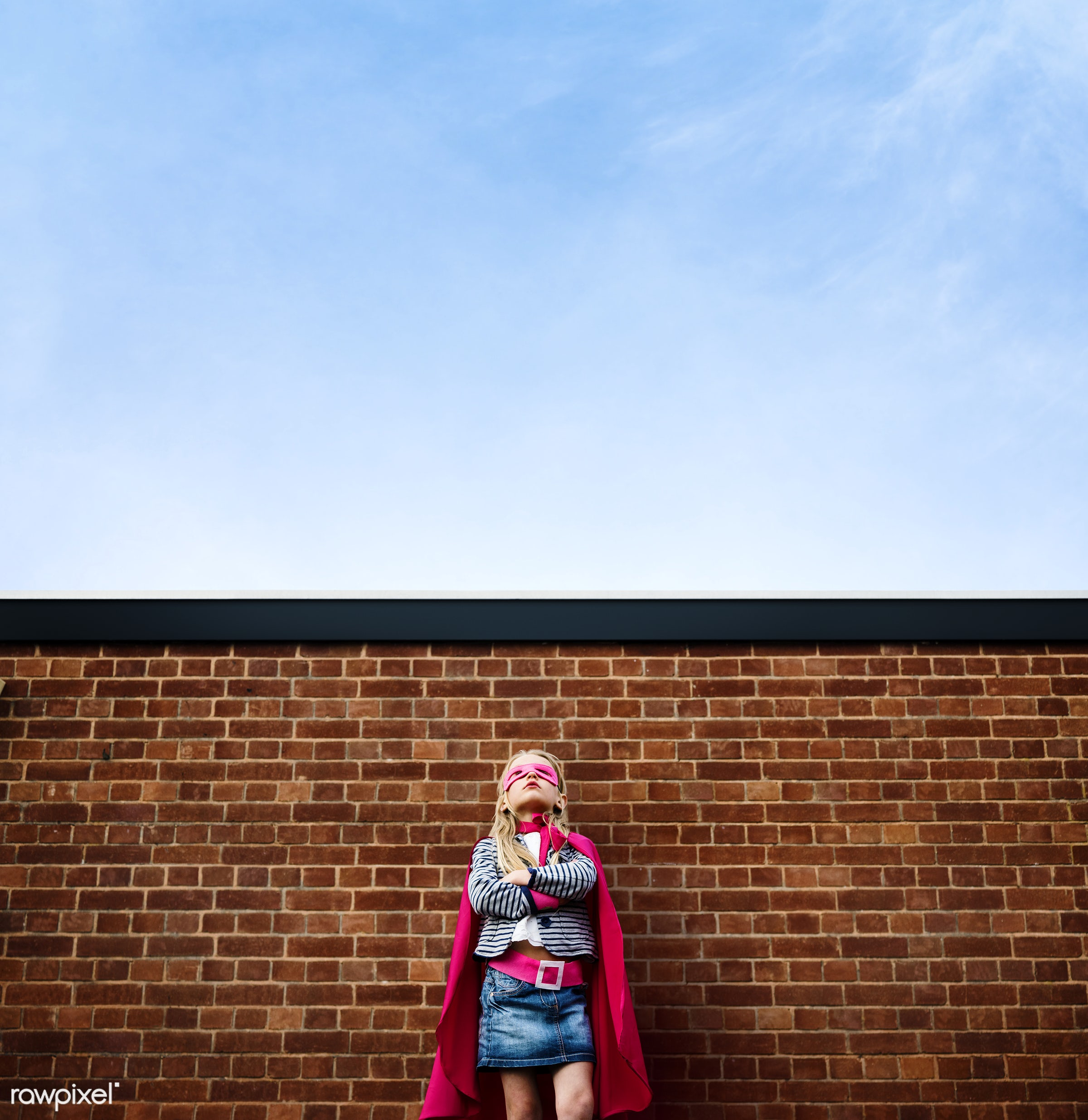 superhero, activity, aspiration, aspirations, brick wall, building, cheerful, child, childhood, color, colorful, confidence...