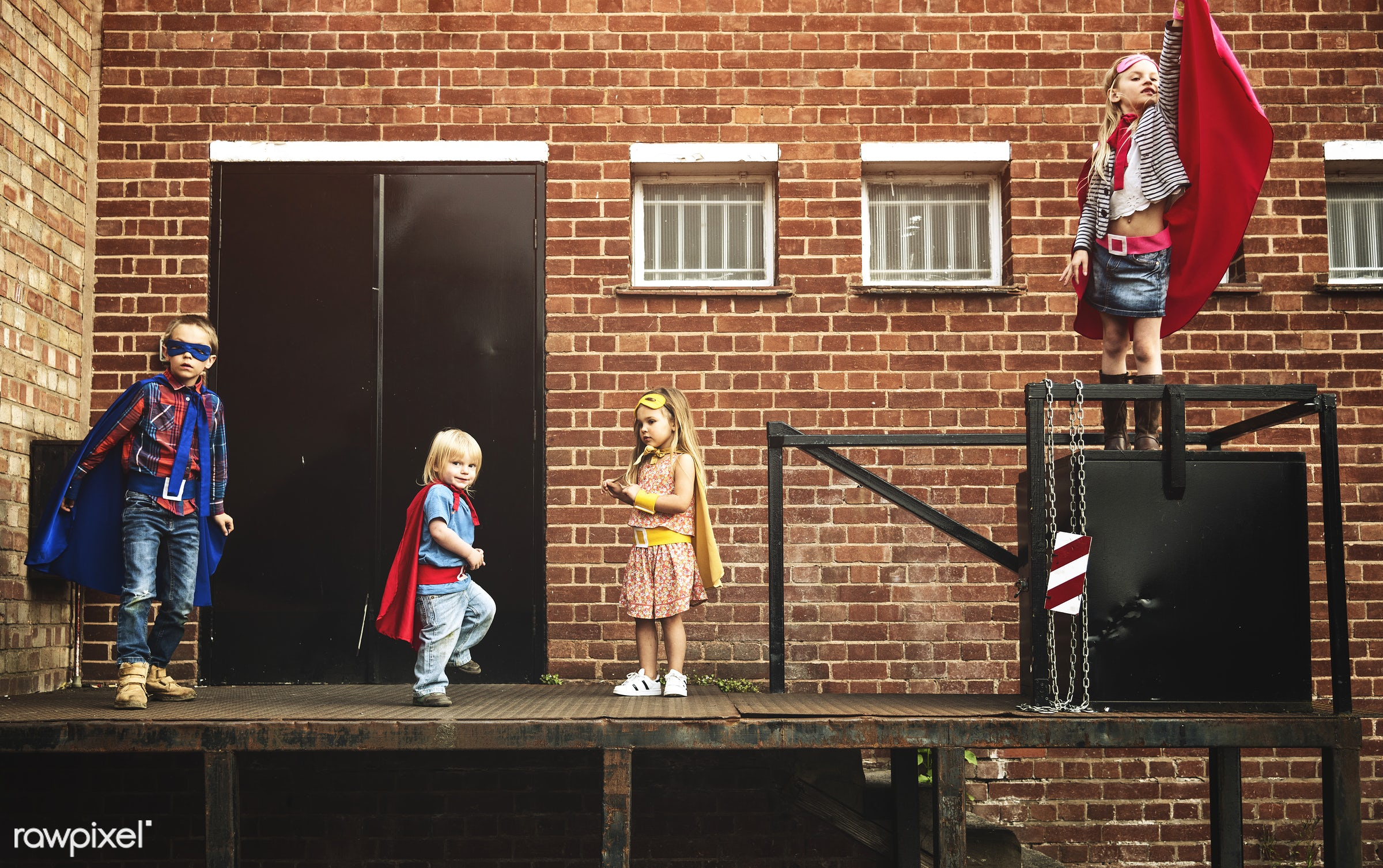 activity, aspirations, brave, brick wall, brother, building, cheerful, child, childhood, colourful, confidence, costume,...