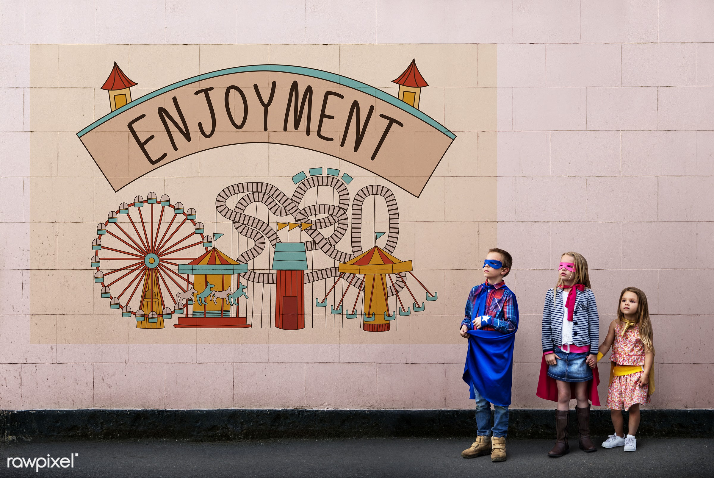 amusement, attraction, boy, brave, brother, childhood, costume, creative, doodle, dressed up, enjoy, enjoyment,...