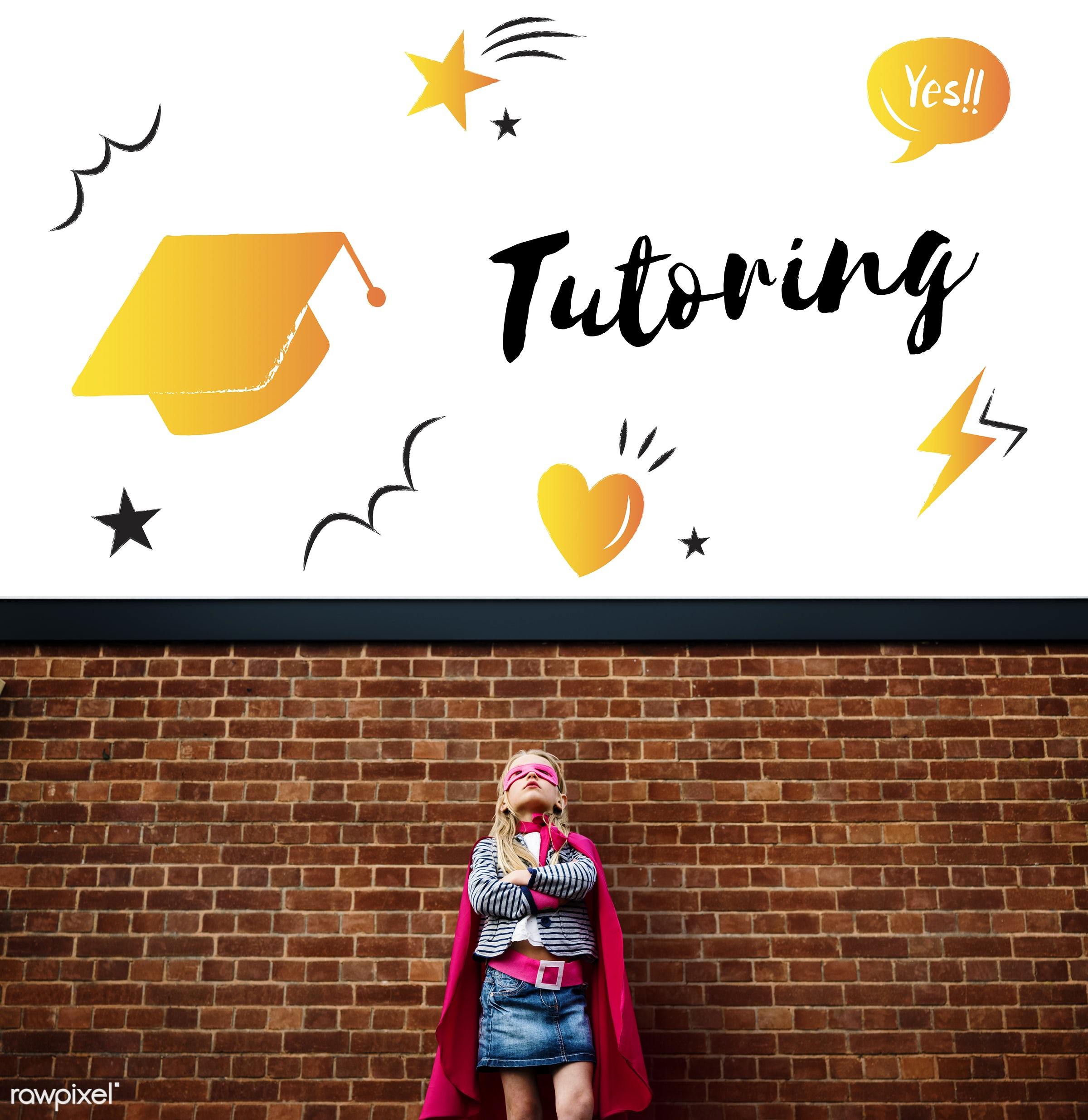 academics, active, brave, cap, child, childhood, costume, dream, dressed up, education, girl, graduation, graphic, hero,...