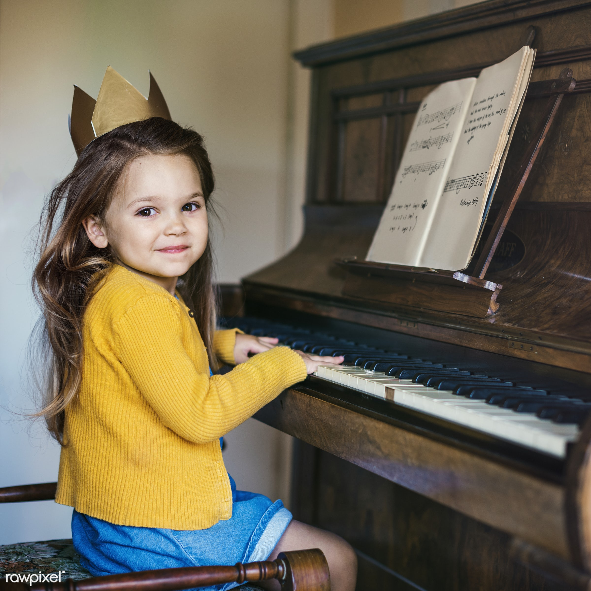 piano, art, aspiration, beautiful, cape, caucasian, child, childhood, children, class, dress up, education, emotions,...