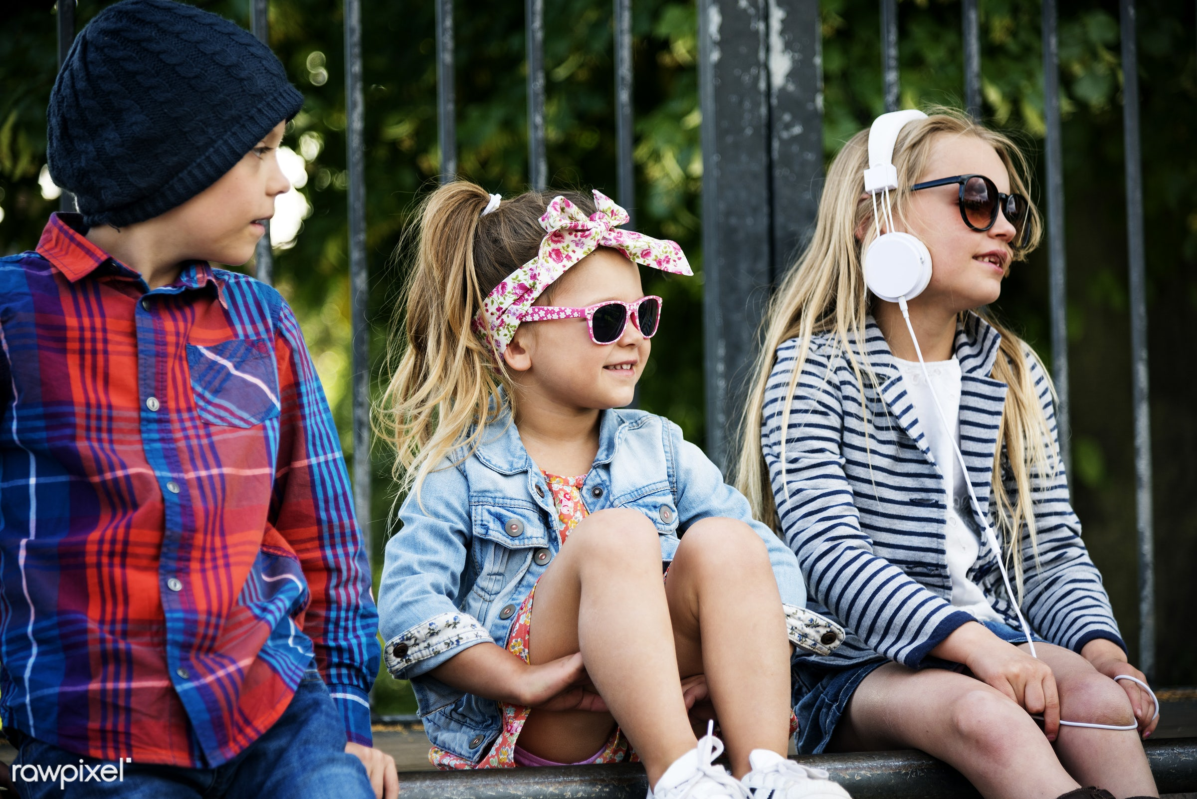 Caucasian children superhero and play shoot  - adorable, brother, casual, caucasian, cheerful, chic, child, childhood,...