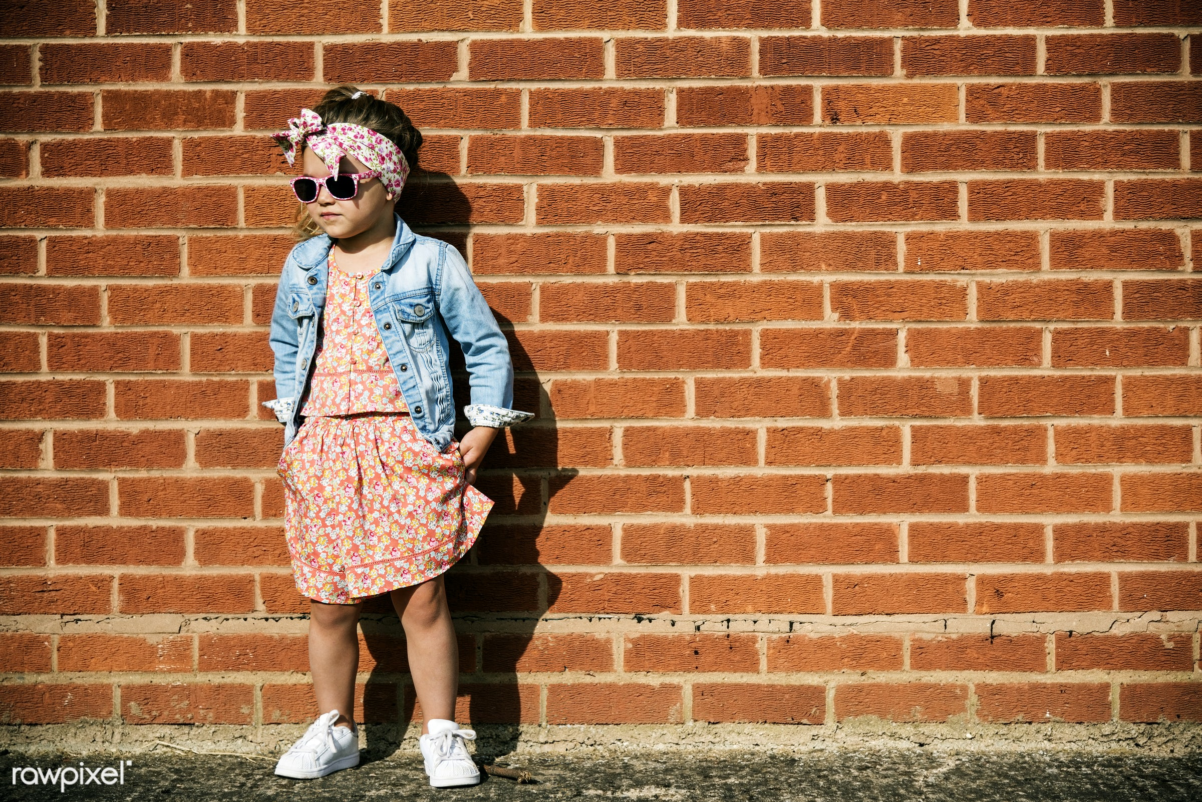 Adorable little girl fashionista street style - baby, fashion, adorable, beautiful, beauty, cape, charming, cheerful, child...