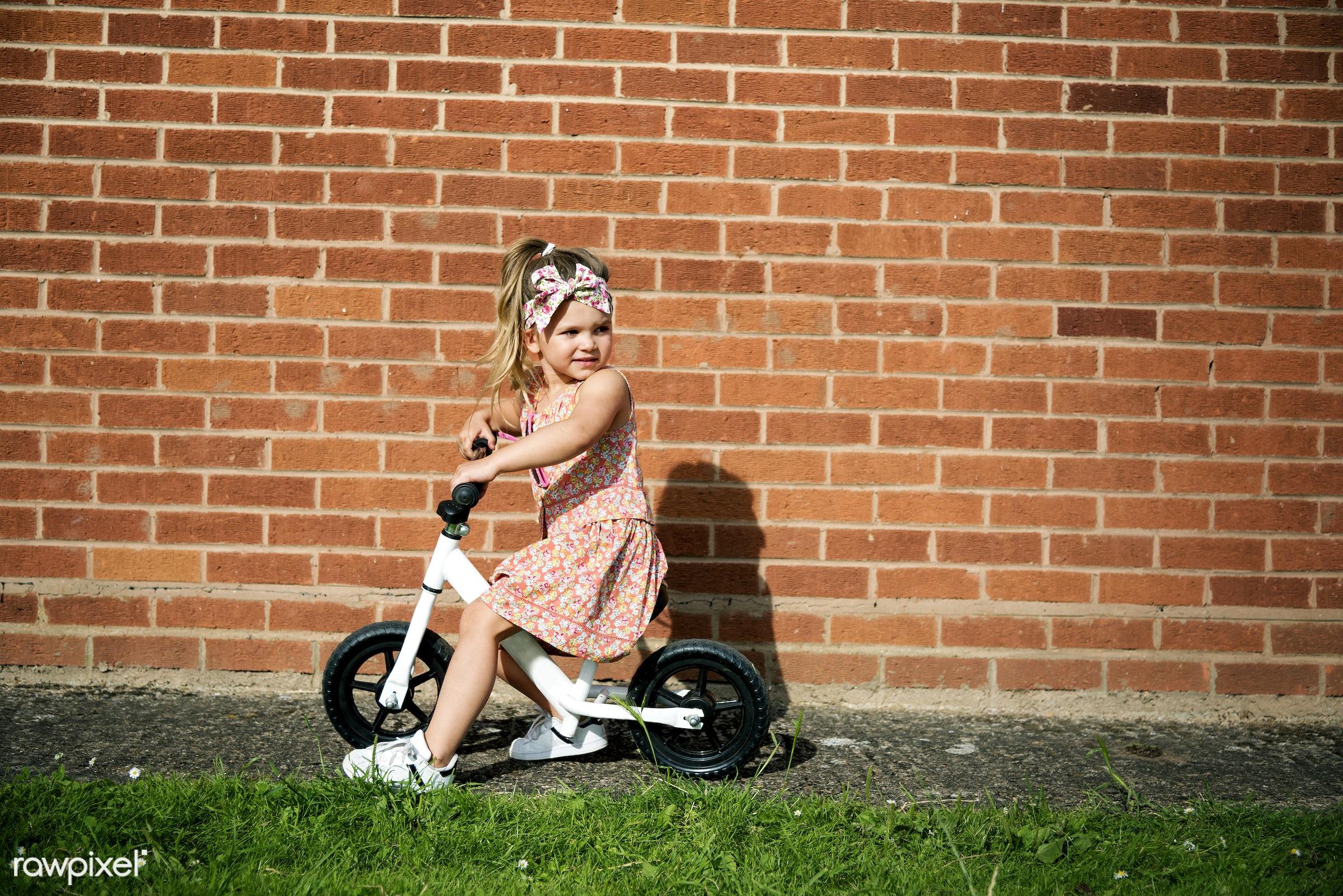 Caucasian children superhero and play shoot - happy, model, person, adorable, beautiful, beauty, bicycle, bike, biking,...