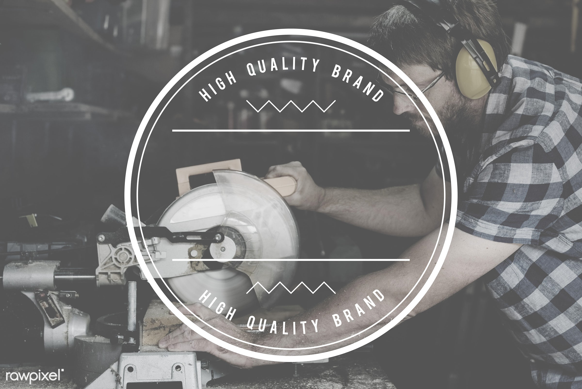 accuracy, badge, banner, blank, brand, branding, business, carpenter, carpentry, copy space, craft, craftsman, ear muff,...
