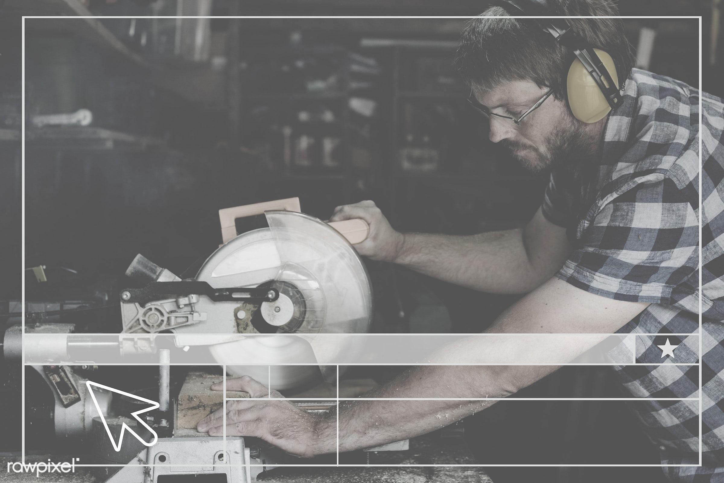 accuracy, blank, carpenter, carpentry, copy space, craft, craftsman, creative design, creativity, design, ear muff,...