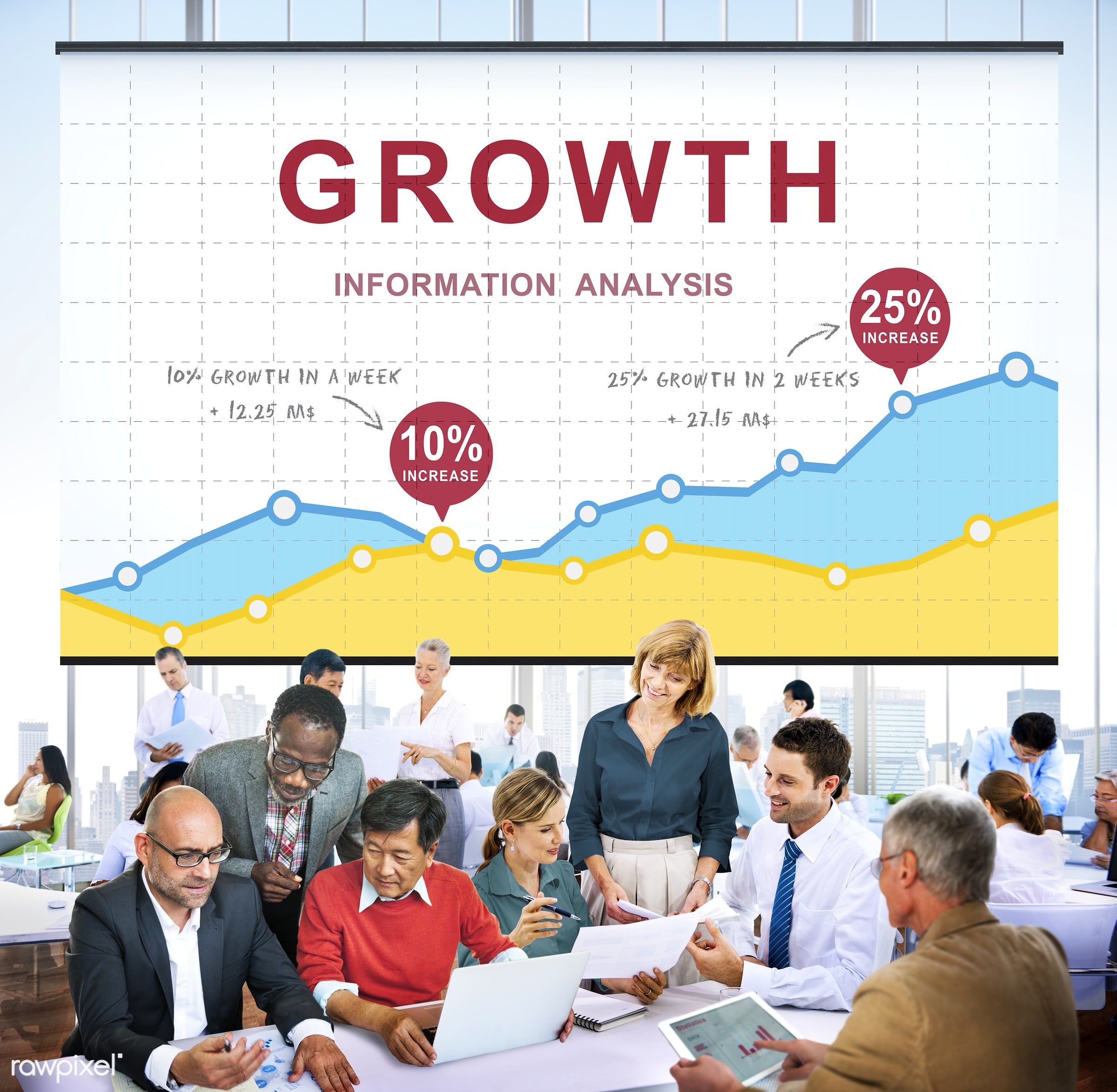 african descent, analysis, analytics, asian ethnicity, brainstorming, business, businessmen, businesswomen, chart,...
