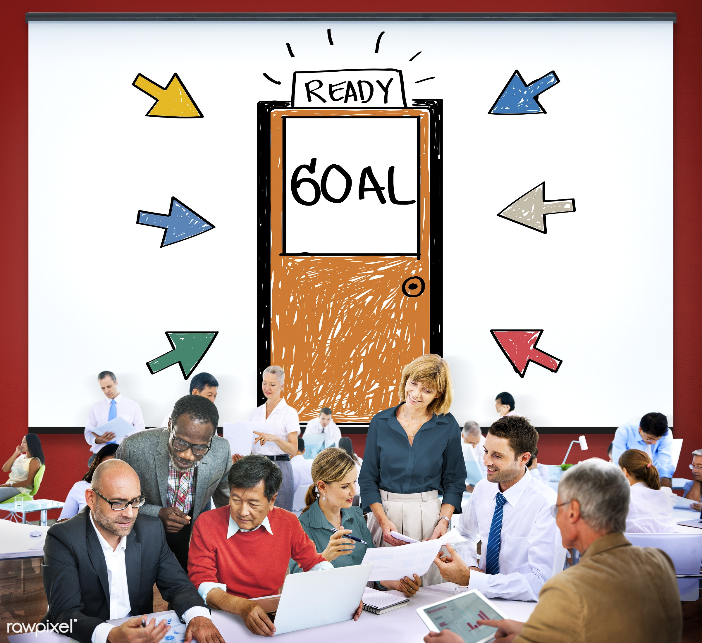aim, analysis, anticipation, aspiration, believe, blackboard, bulls eye, business, business people, businessmen,...