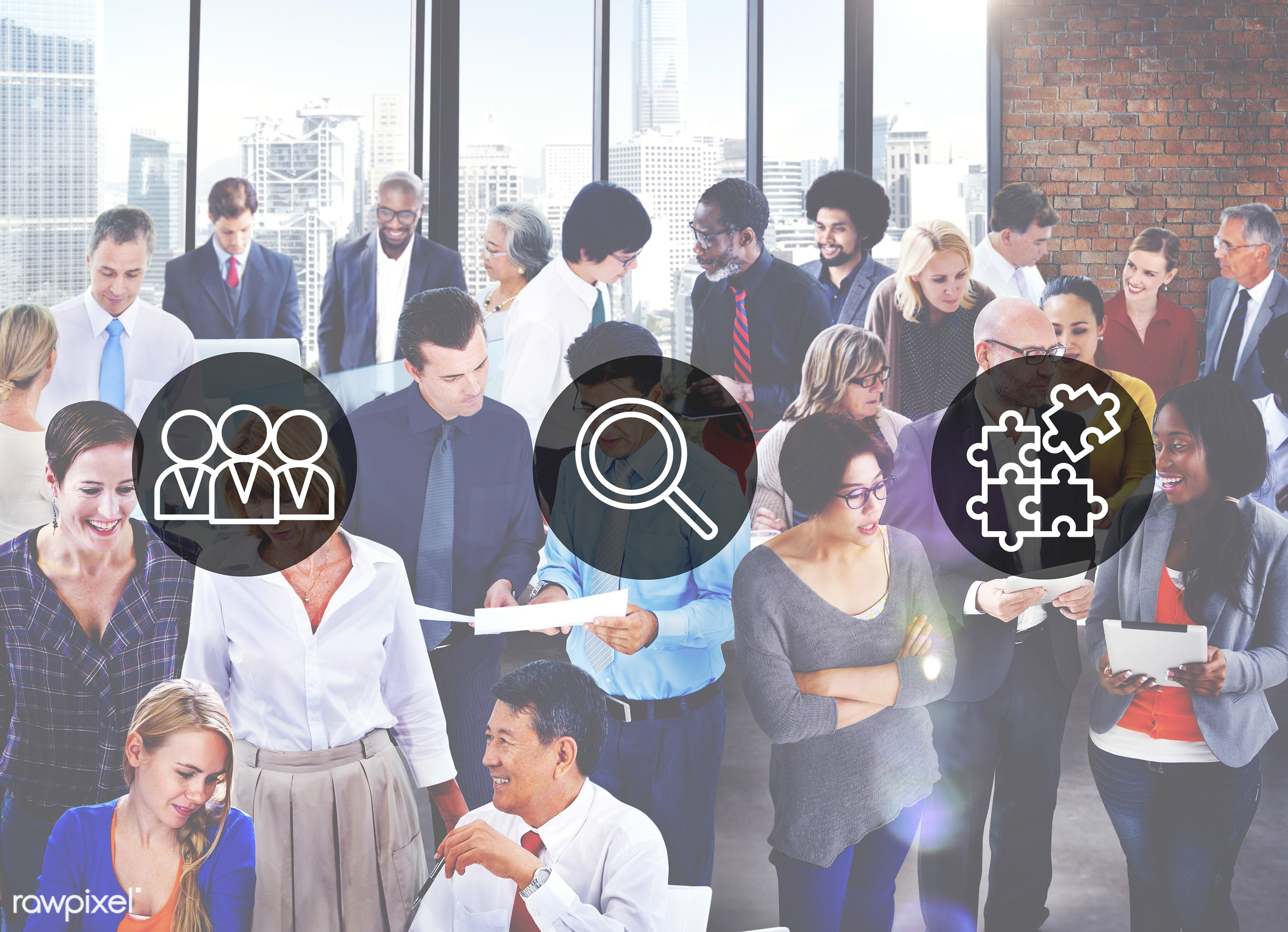 african descent, asian ethnicity, business, businessmen, businesswomen, busy, career, collaboration, communication,...