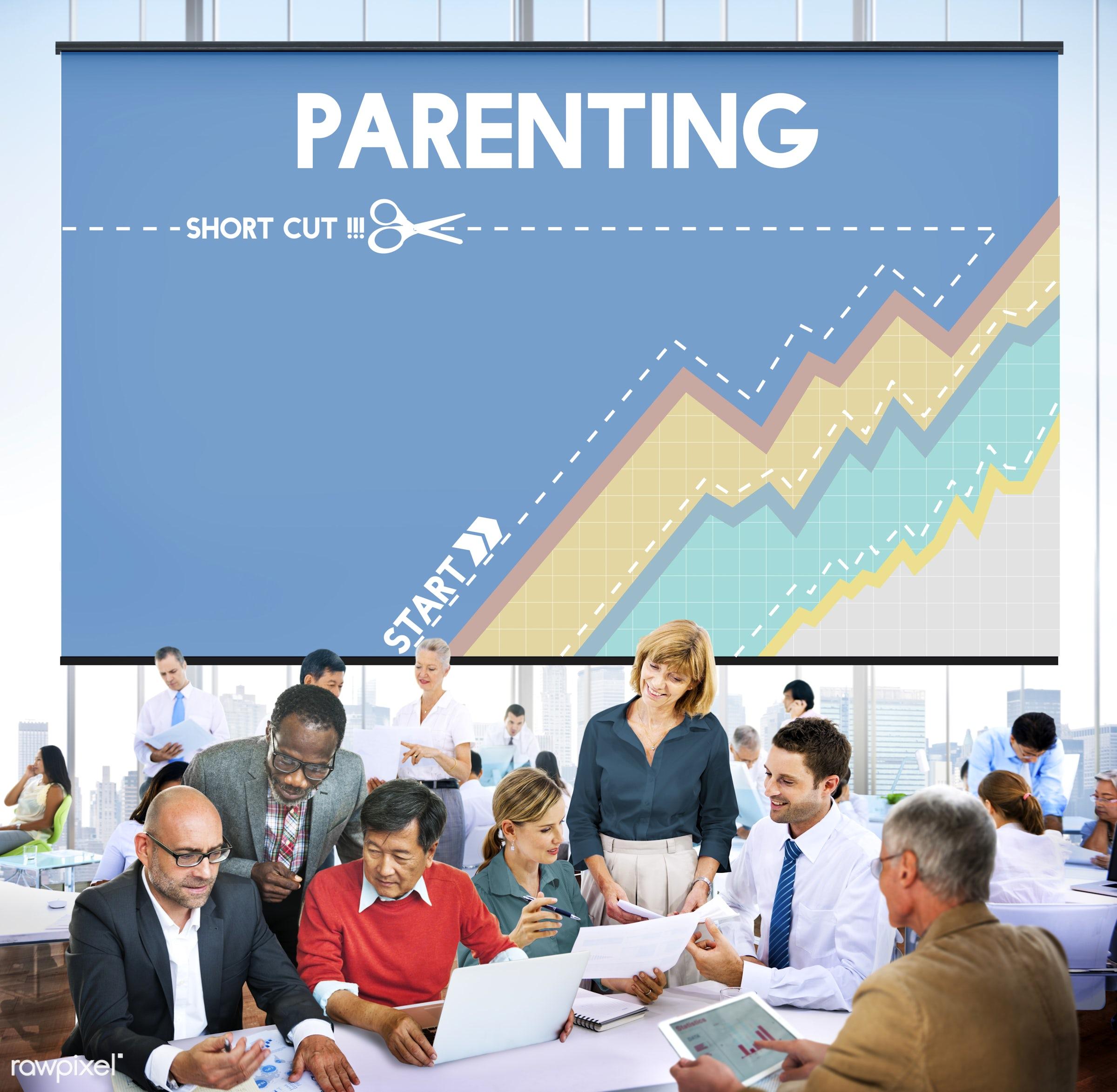 adult, african descent, asian ethnicity, brainstorming, business, businessmen, businesswomen, cheerful, child, childhood,...