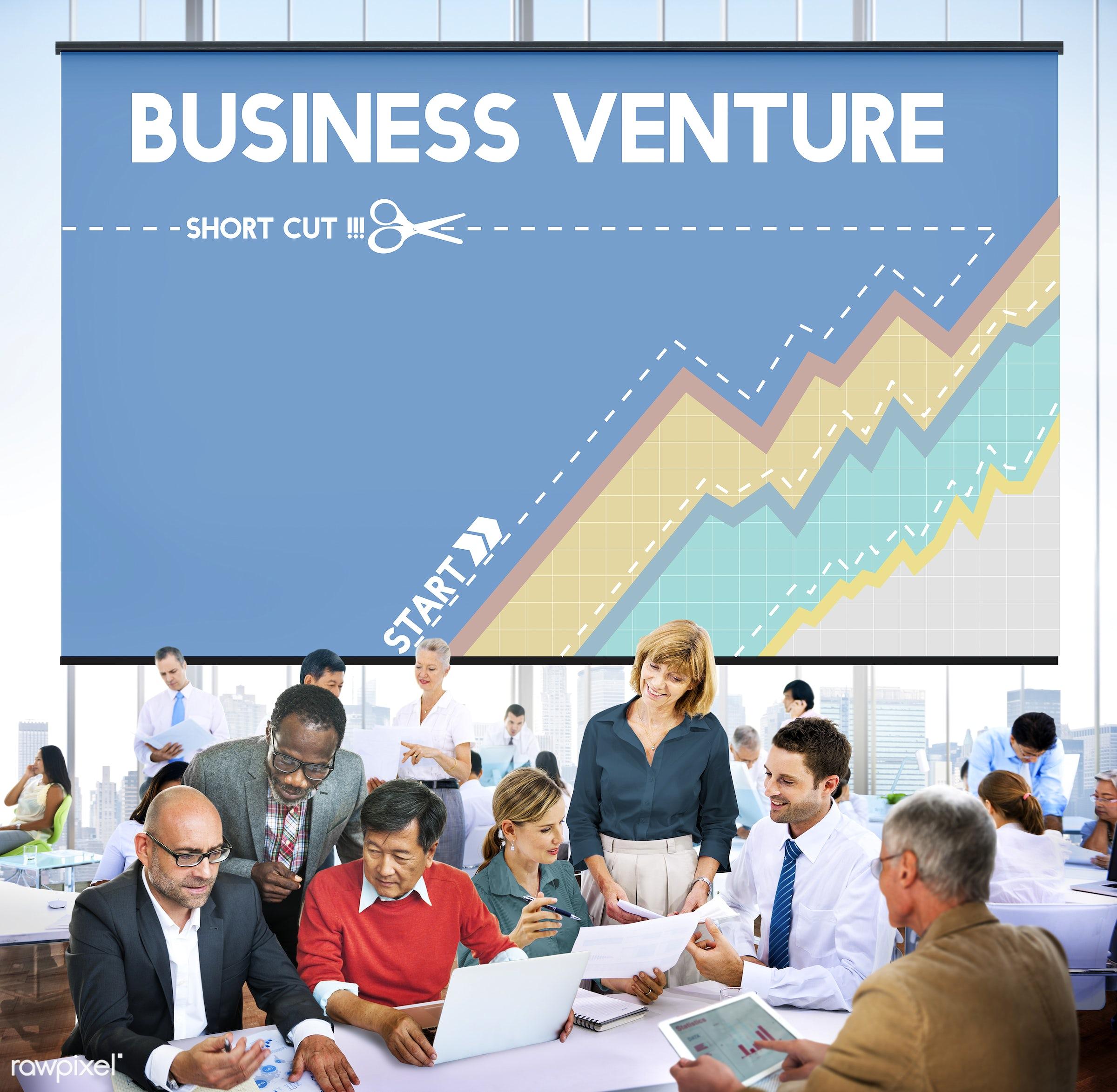 african descent, aim, asian ethnicity, brainstorming, business, businessmen, businesswomen, campaign, chart, colleagues,...