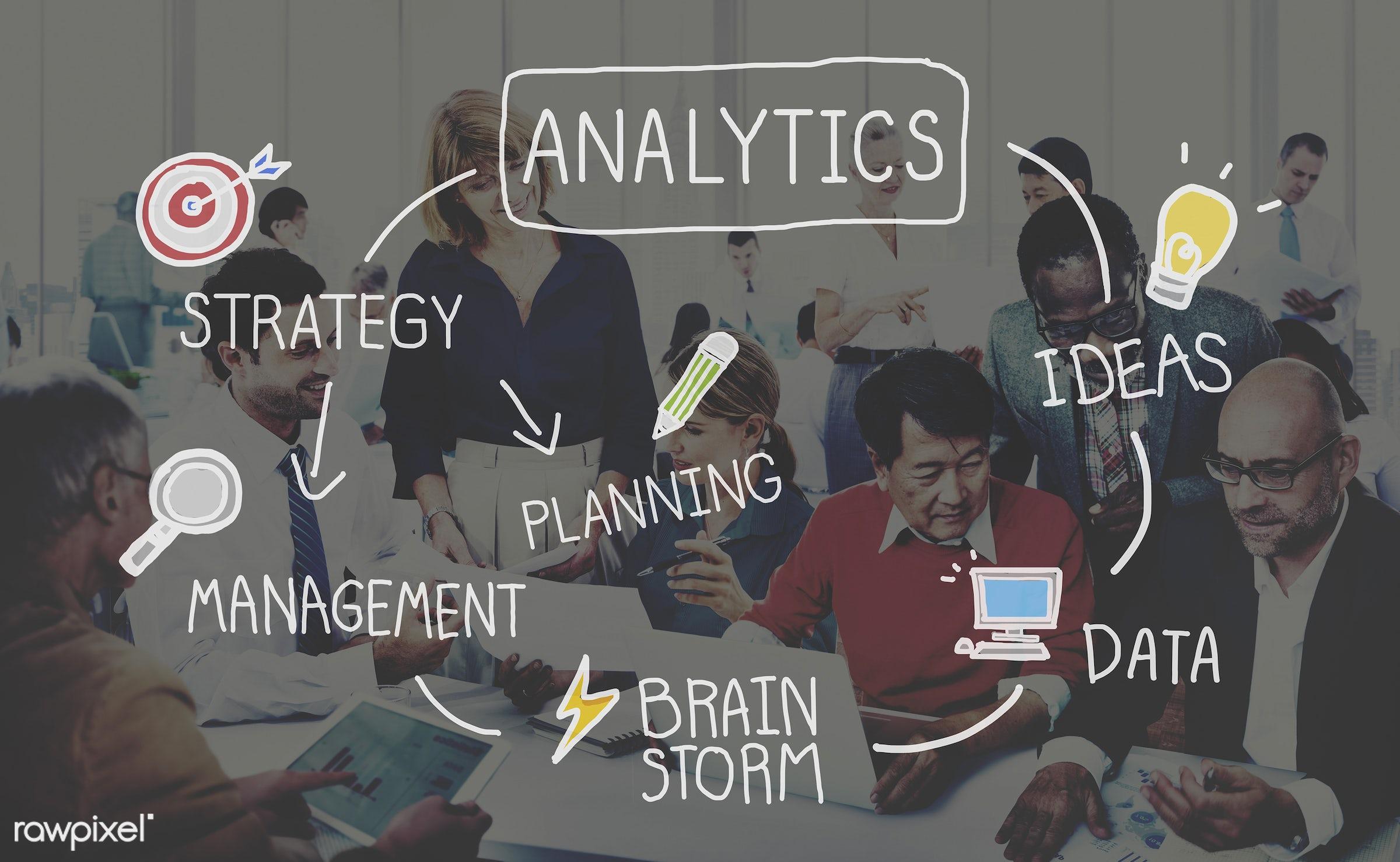 african descent, analysis, analytics, asian ethnicity, big data, brainstorm, brainstorming, business, business people,...