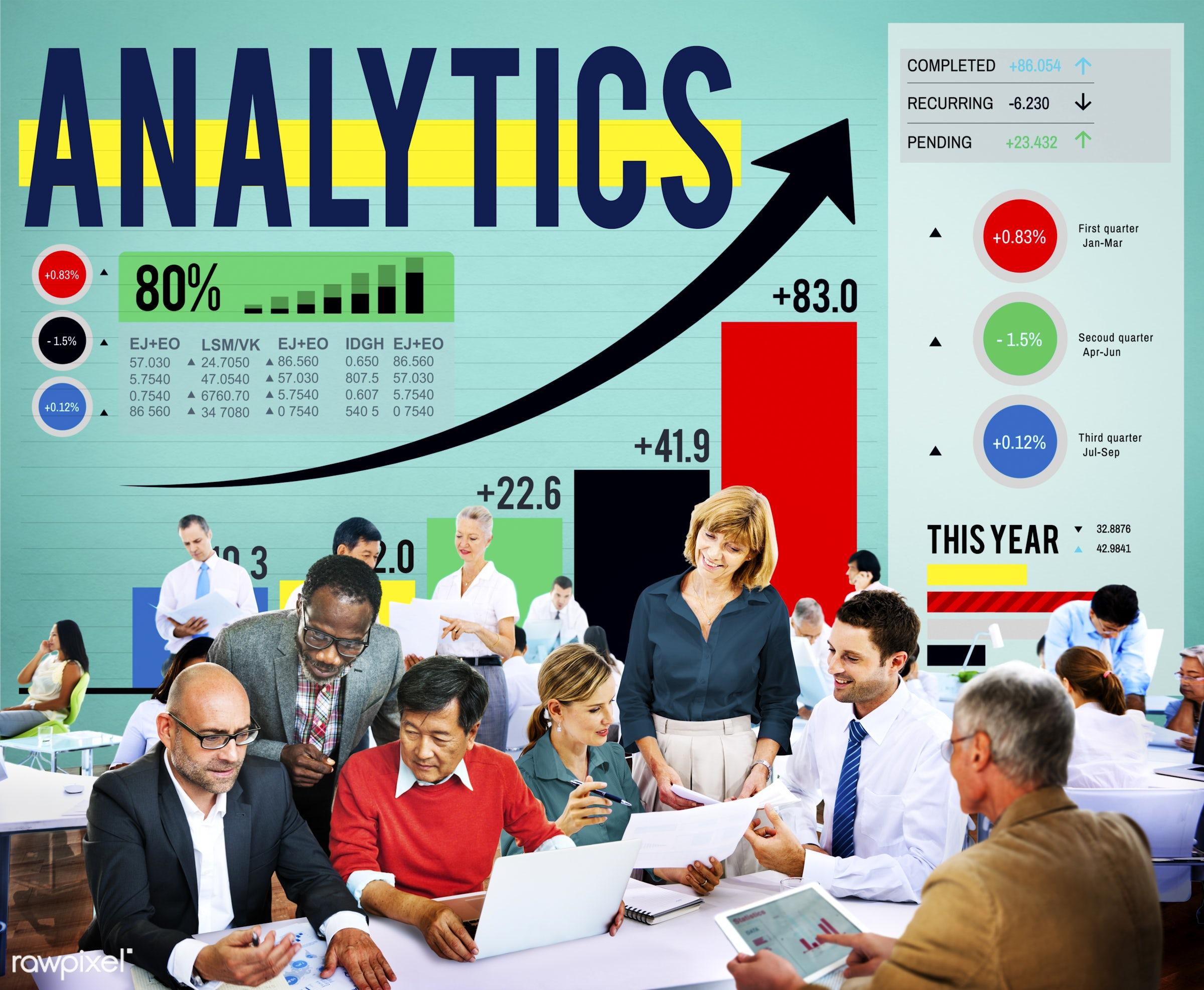analysis, analytics, big data, business people, businessmen, businesswomen, chart, communication, connecting, corporate,...