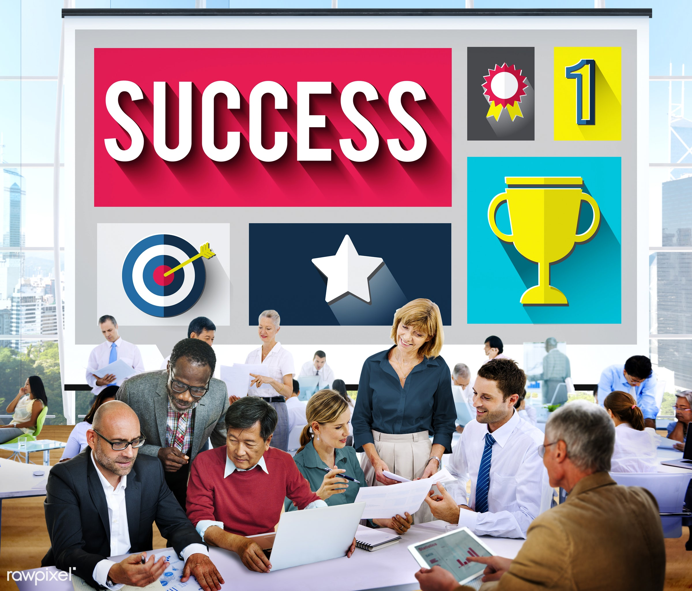 accomplishment, achievement, african descent, asian ethnicity, brainstorming, business, business people, collaboration,...