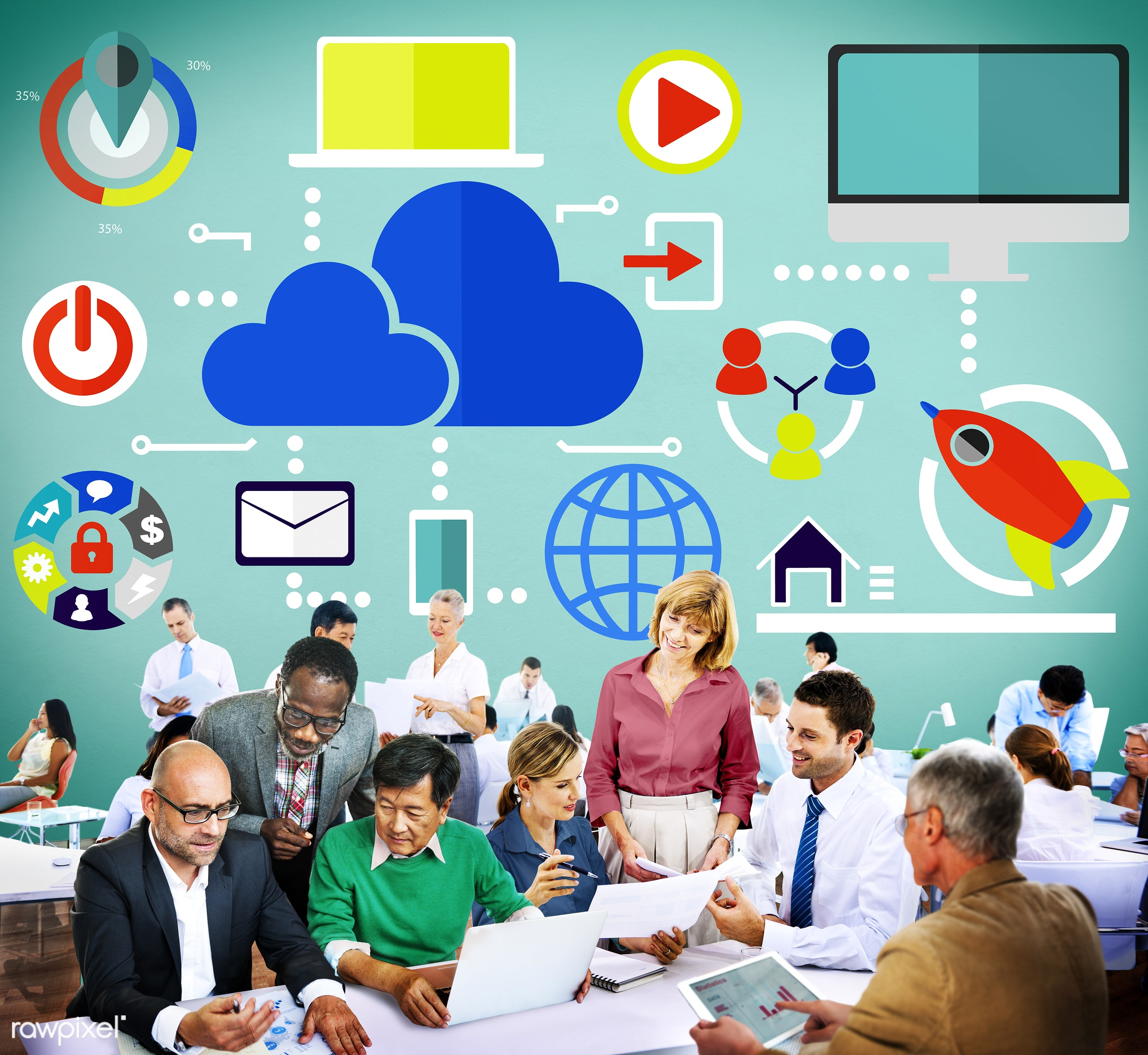 analysis, big data, business, business people, businessmen, businesswomen, busy, cloud, cloud computing, cloud network,...