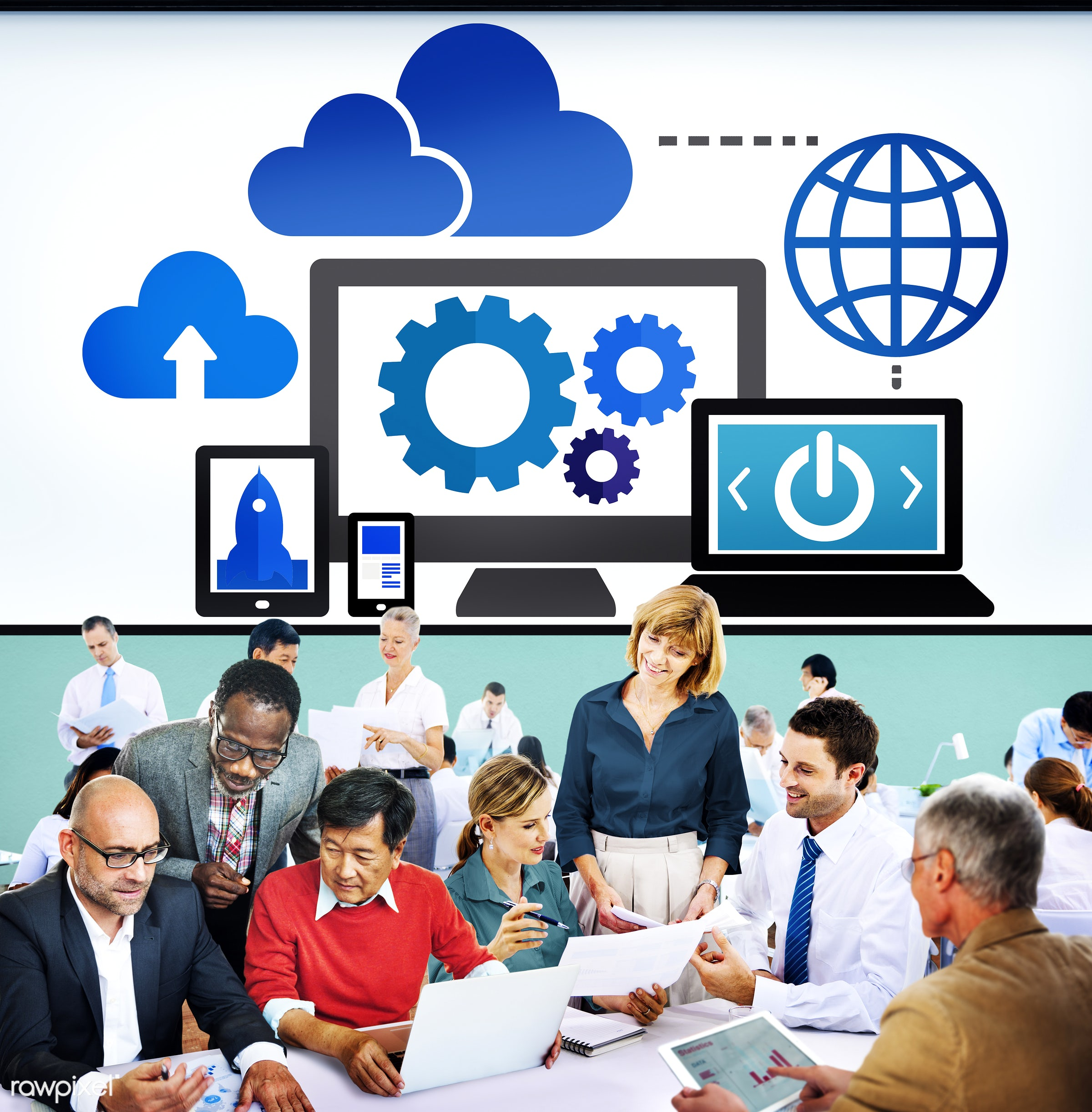 analysis, big data, business, business people, businessmen, businesswomen, busy, cloud, cloud computing, cloud network, cog...