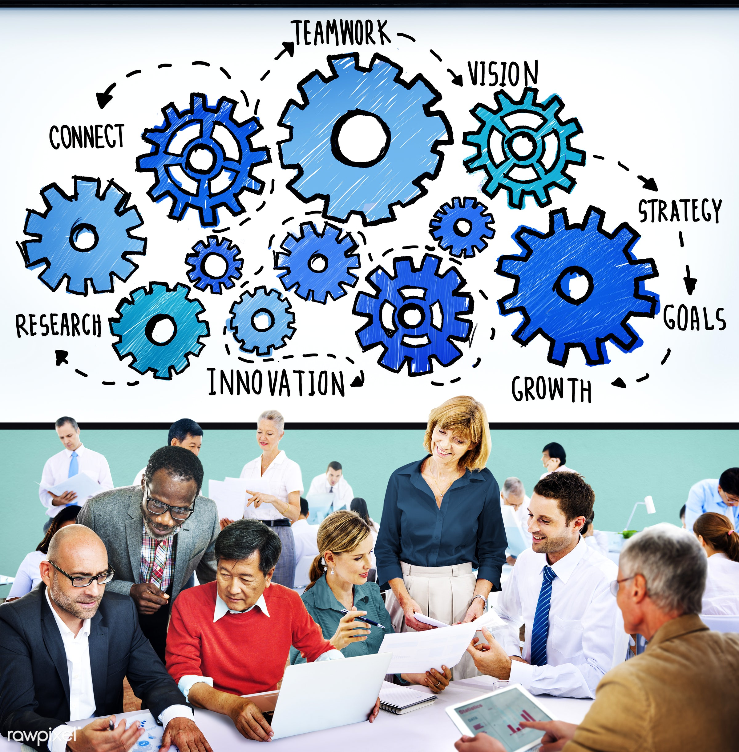 analysis, business, business people, businessmen, businesswomen, busy, cog, collaboration, communication, connect,...