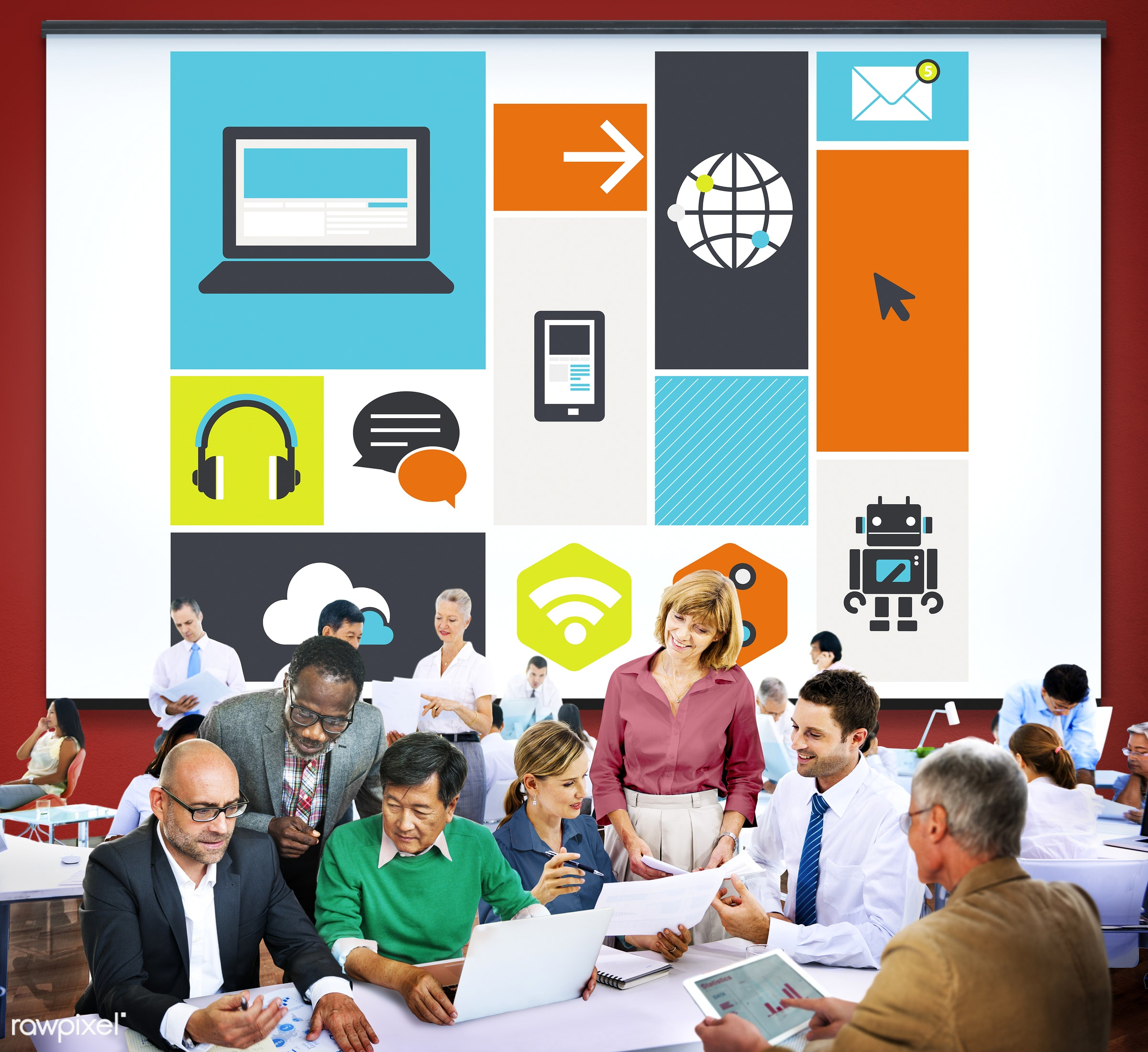 analysis, business, business people, businessmen, businesswomen, busy, chatting, cloud, cloud computing, communication,...