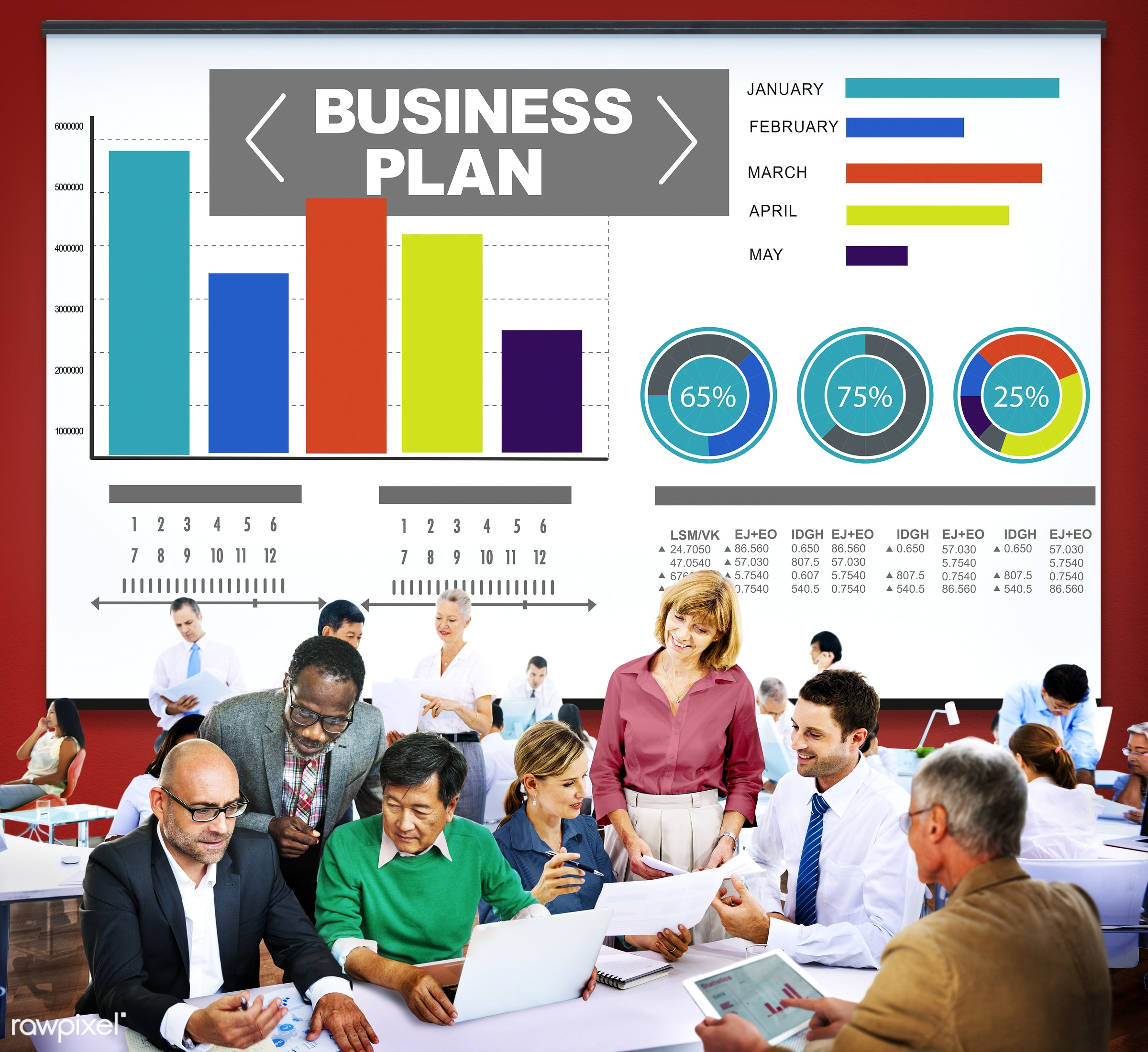 analysis, bar graph, brainstorming, business, business people, businessmen, businesswomen, busy, chart, communication,...