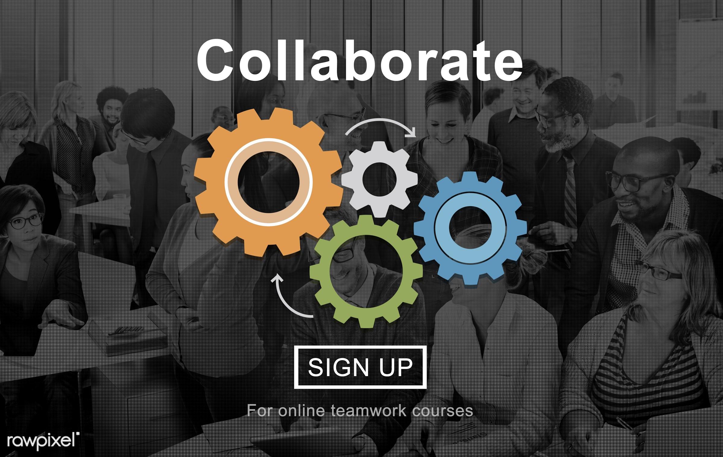 african descent, agreement, alliance, asian ethnicity, business, businessmen, businesswomen, busy, cog, collaborate,...