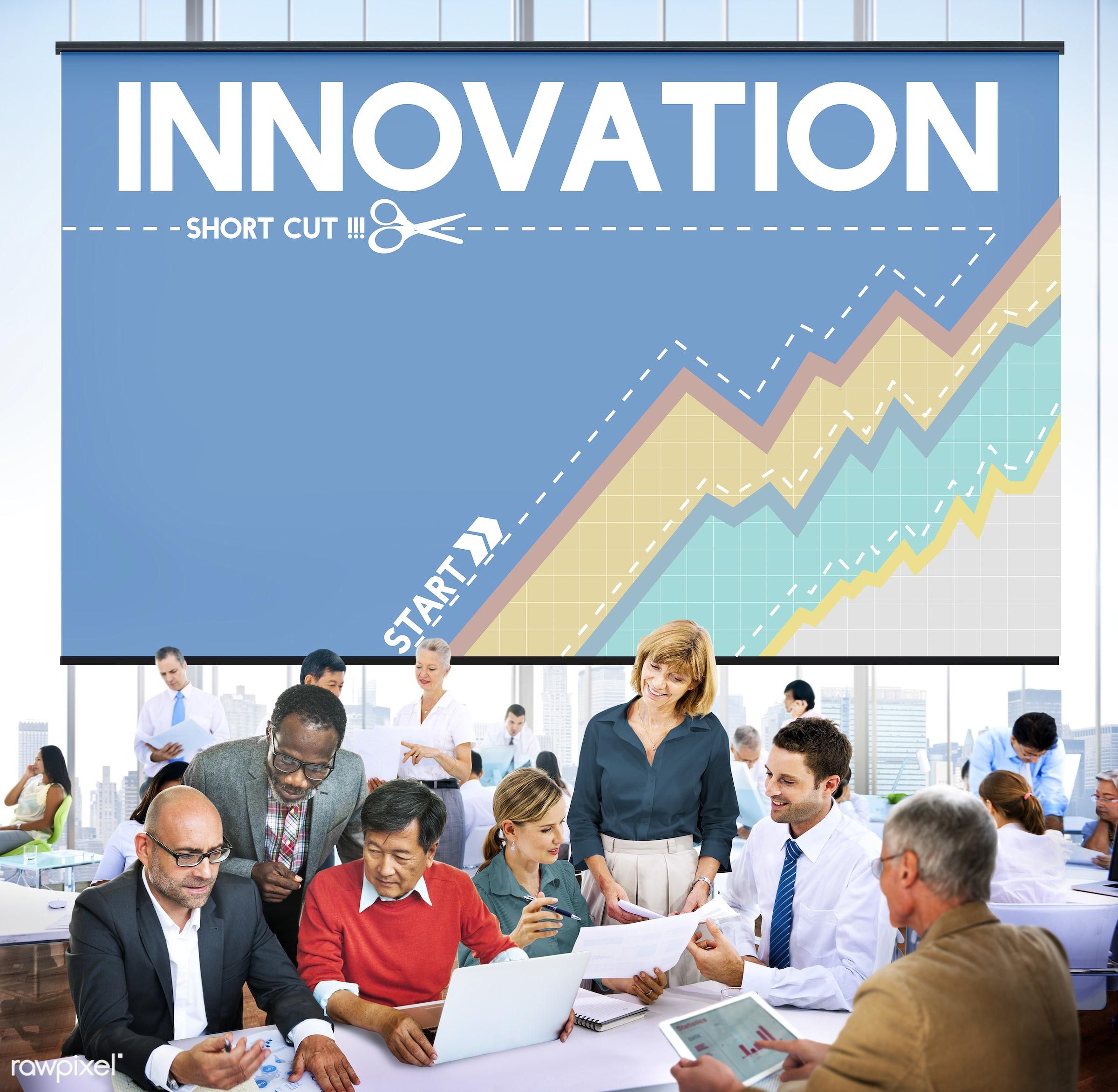 achievement, advertisement, african descent, asian ethnicity, brainstorming, business, businessmen, businesswomen, chart,...
