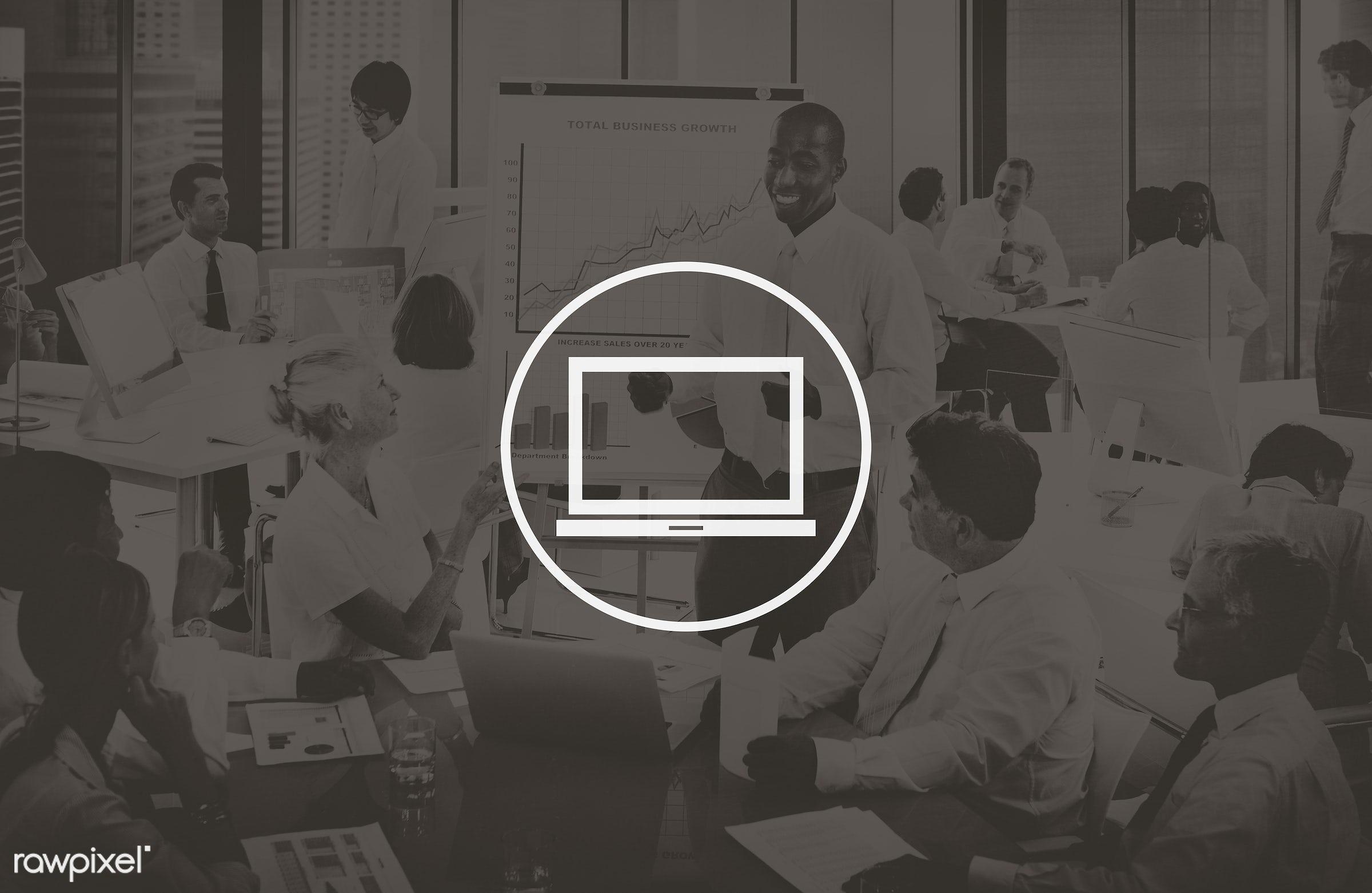 african descent, asian ethnicity, brainstorming, business, businessmen, businesswomen, communication, computer, conference,...