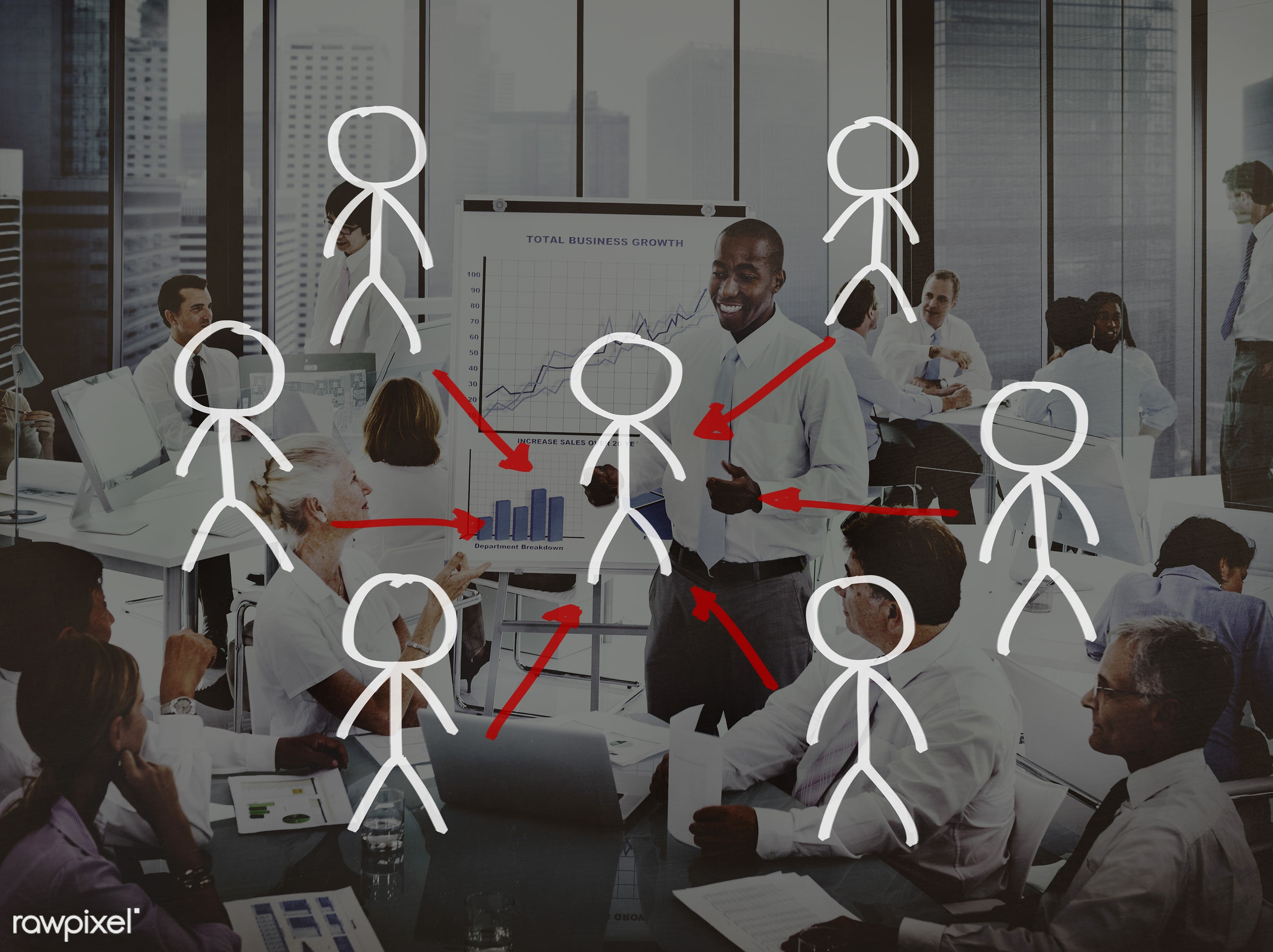 african descent, agreement, asian ethnicity, brainstorming, business, businessmen, businesswomen, collaboration, commitment...