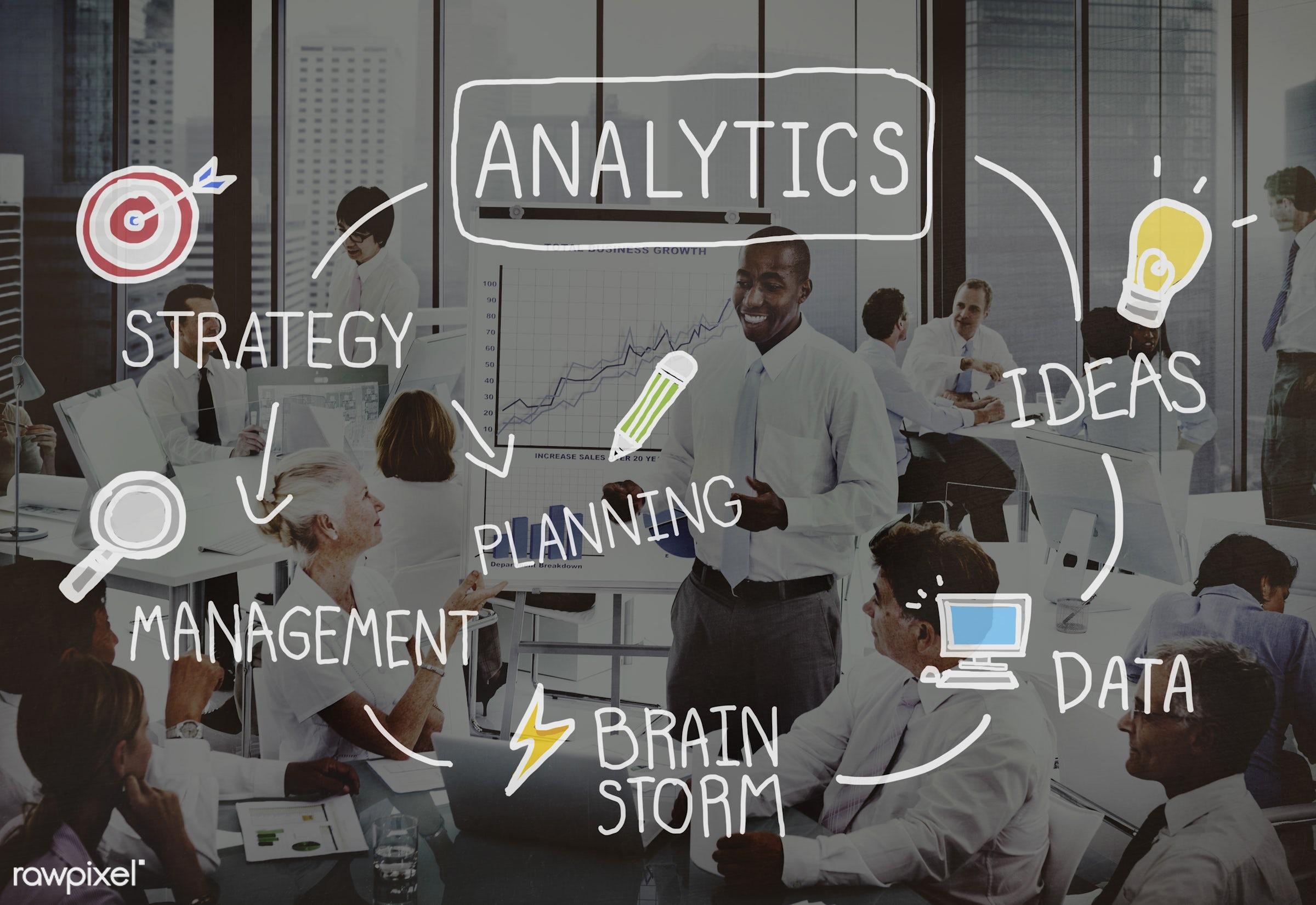 african descent, analysis, analytics, asian ethnicity, big data, brainstorm, brainstorming, business, businessmen,...