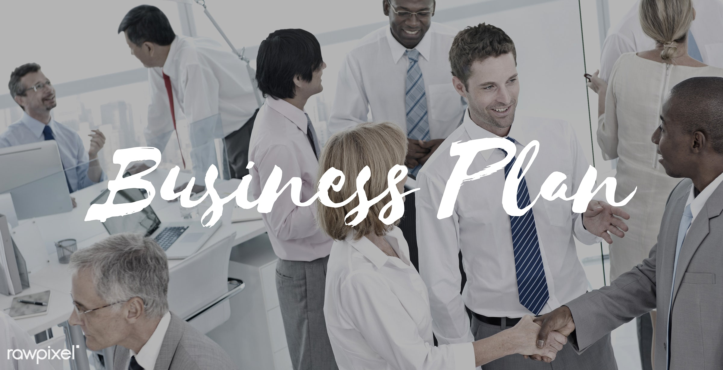 african descent, asian ethnicity, business, business plan, businessmen, businesswomen, city, communication, connection,...