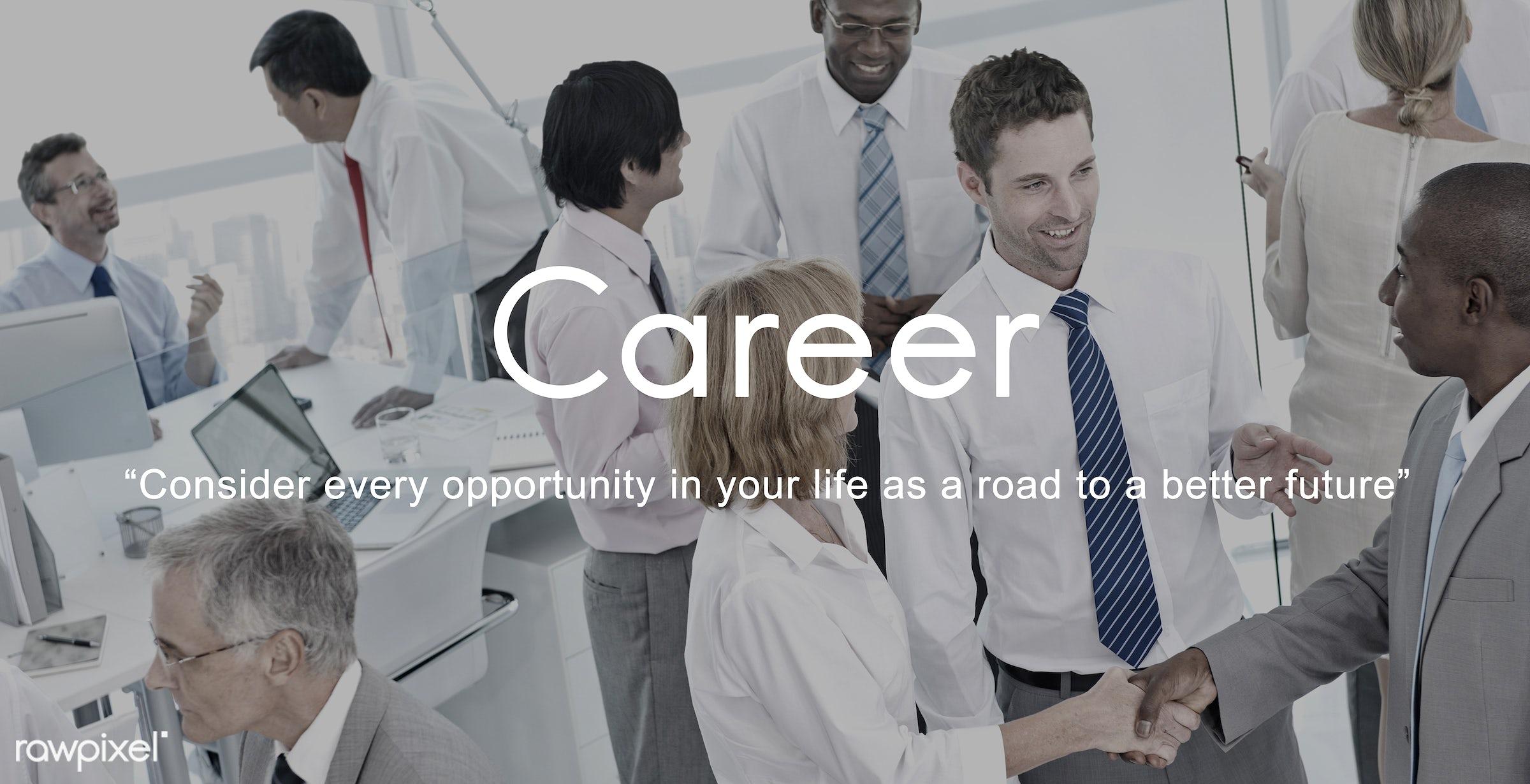 recruiting, career, job, meeting, african descent, asian ethnicity, business, businessmen, businesswomen, career tools,...