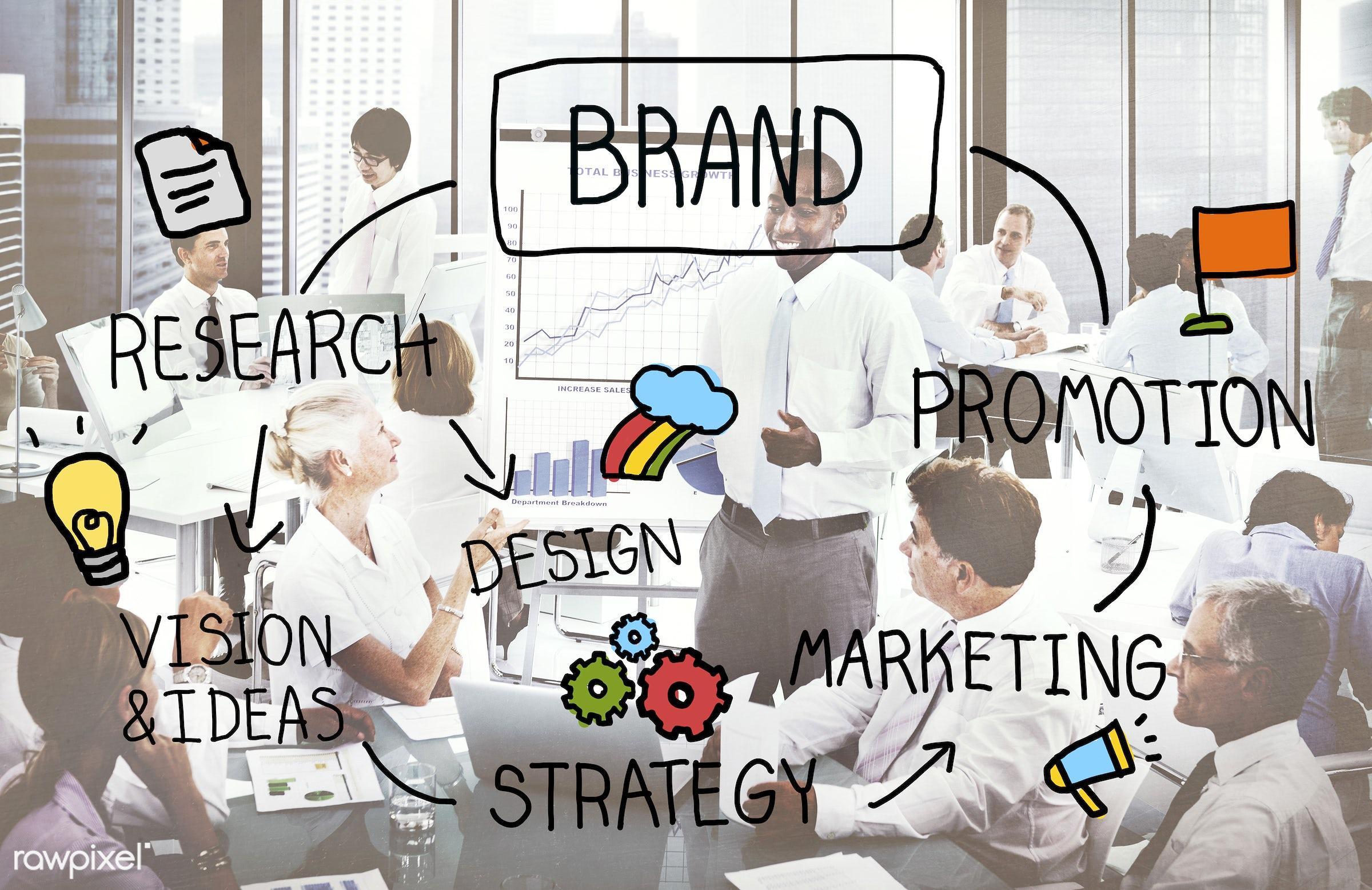 advertising, african descent, asian ethnicity, brainstorming, brand, brand name, branding, business, businessmen,...