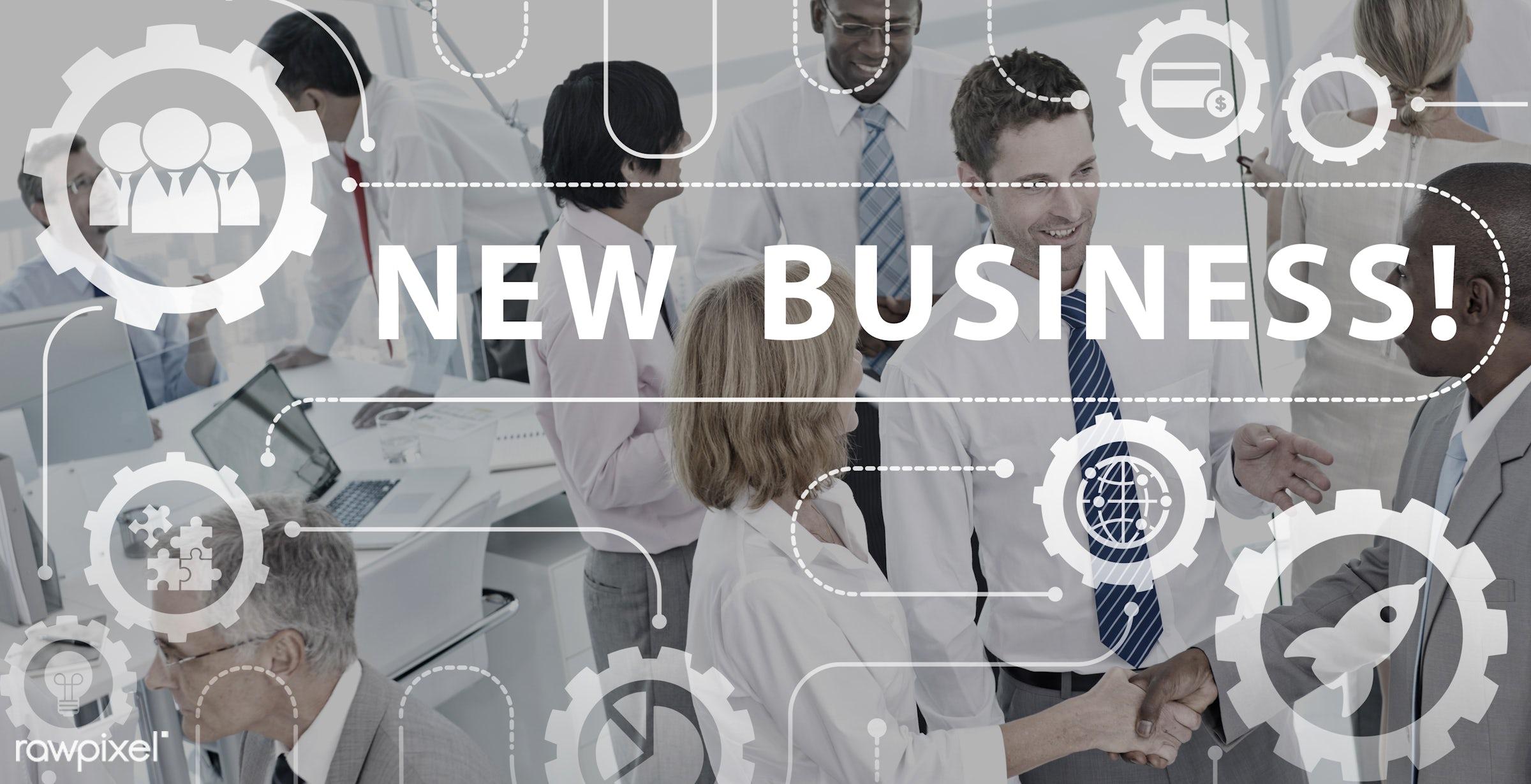 african descent, asian ethnicity, begin, business, businessmen, businesswomen, city, collaboration, communication,...