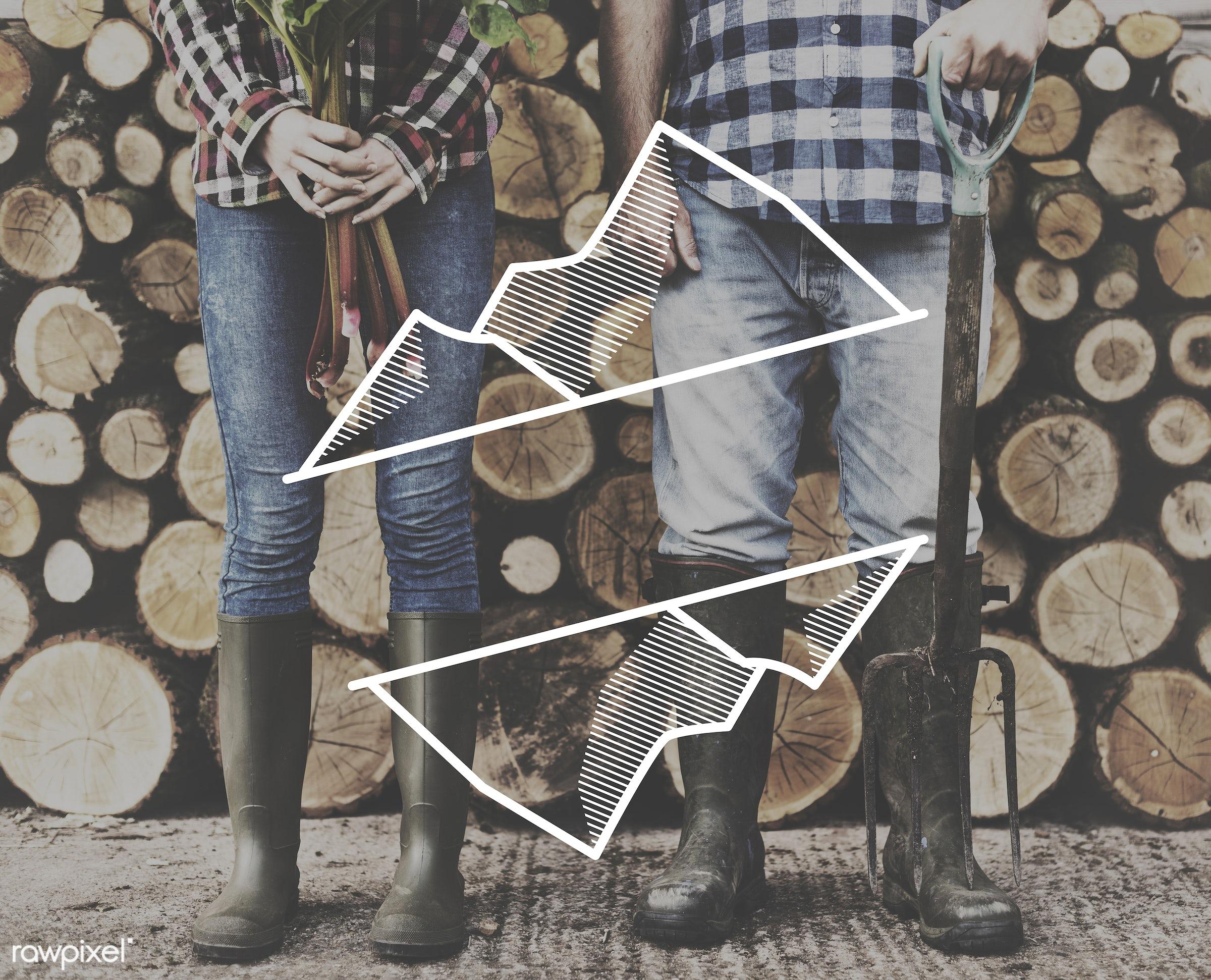 badge, banner, blank, caucasian, copy space, farm, farmer, firewood, hands, holding, jeans, journey, label, legs, log,...