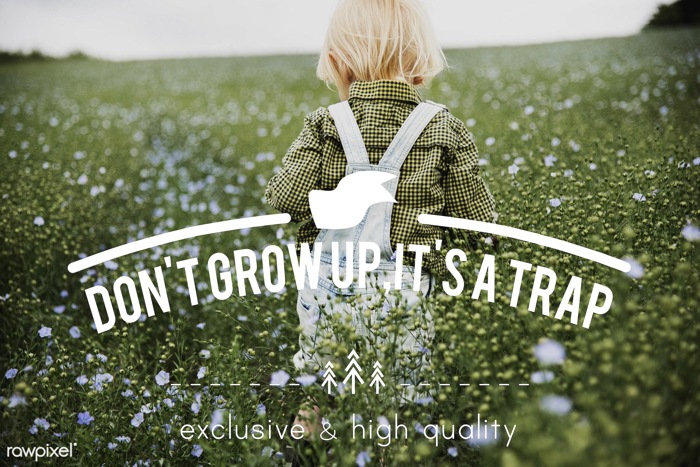 blonde, boy, caucasian, caution, cheeky, childhood, dungarees, encouragement, evolve, flower garden, flowers, funny, garden...