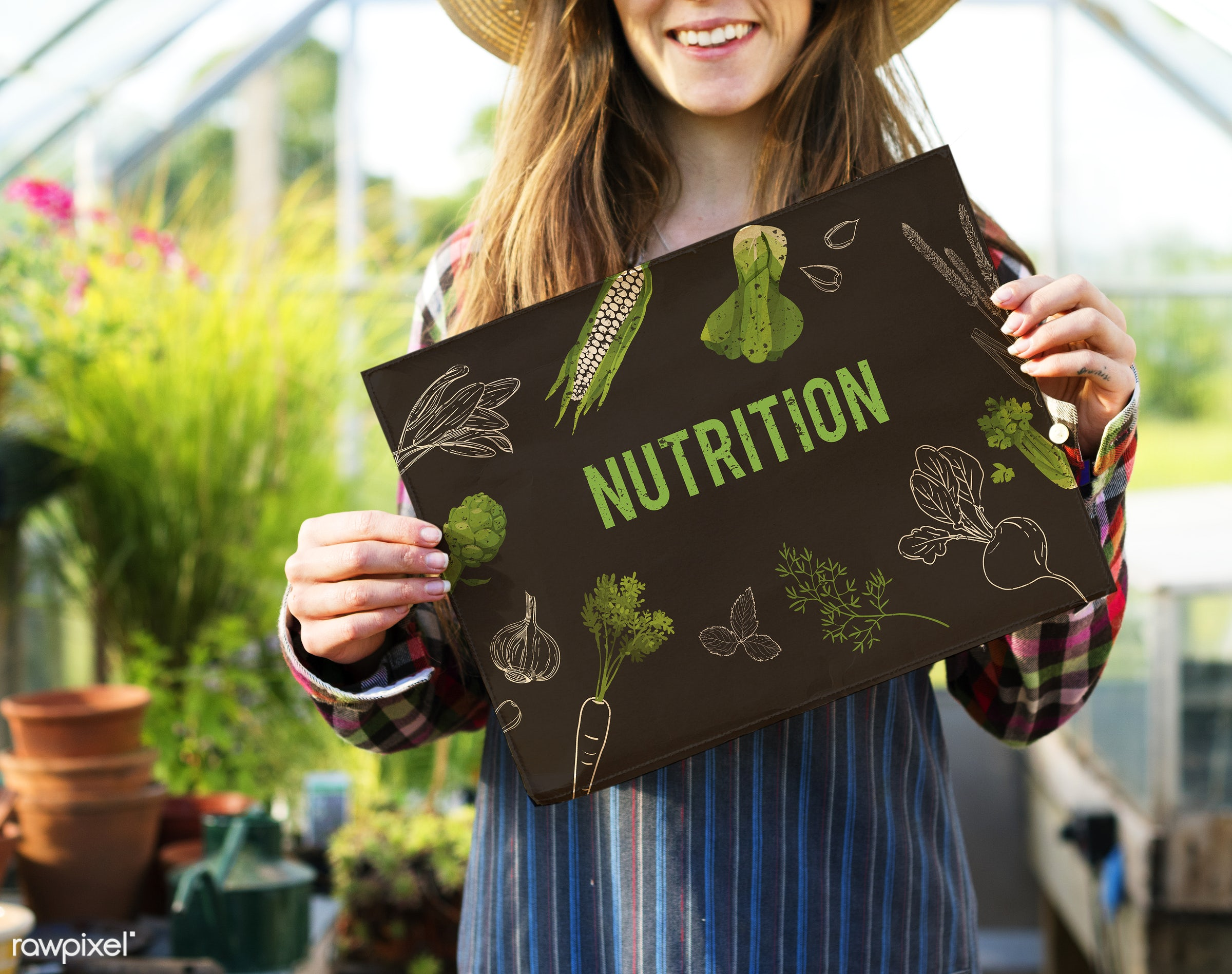 adult, agriculture, caucasian, choice, countryside, dark blonde, eating, farm, female, flowers, food, fresh, gardening,...