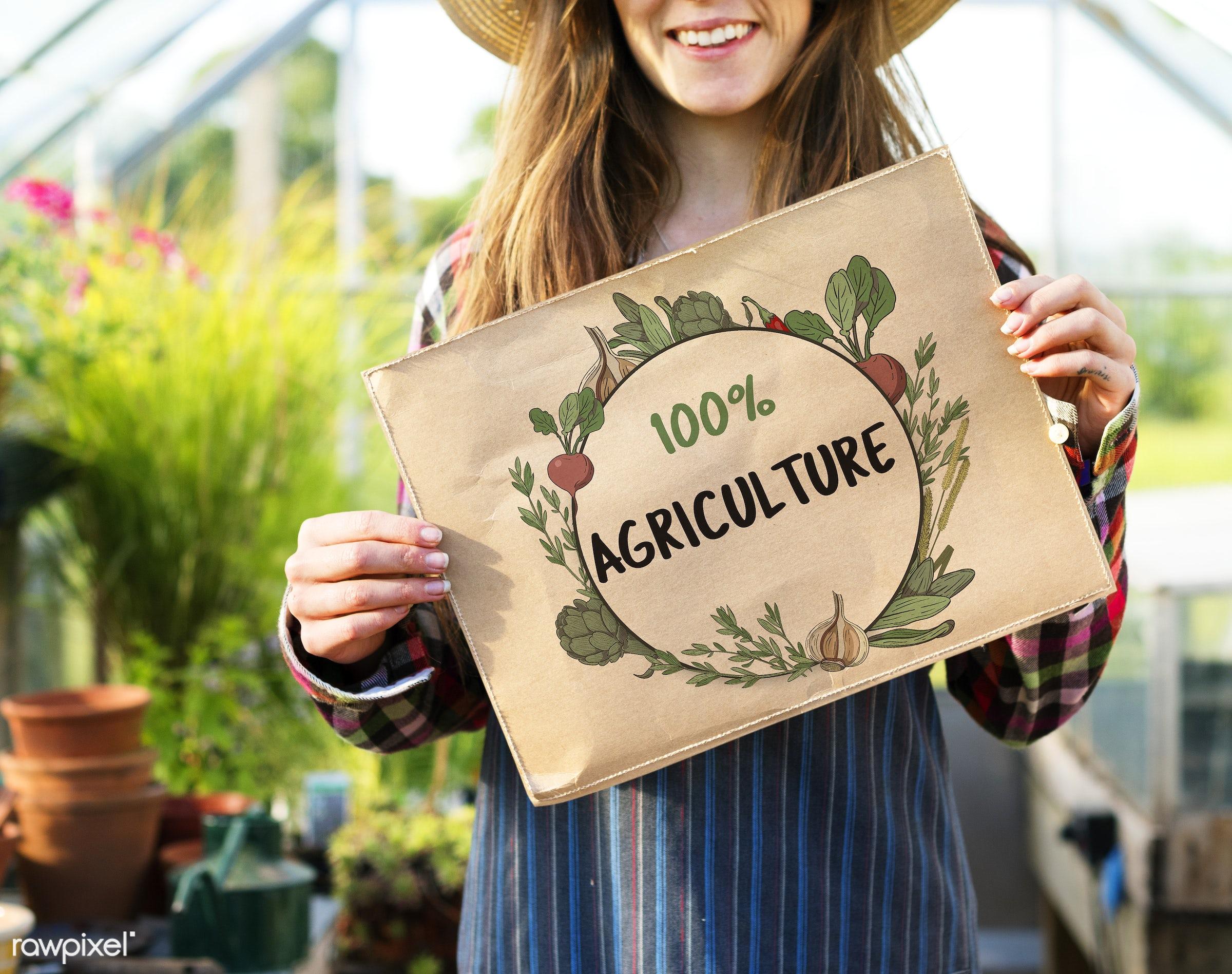 adult, agriculture, border, caucasian, countryside, dark blonde, diet, farm, female, flowers, food, fresh, gardening,...
