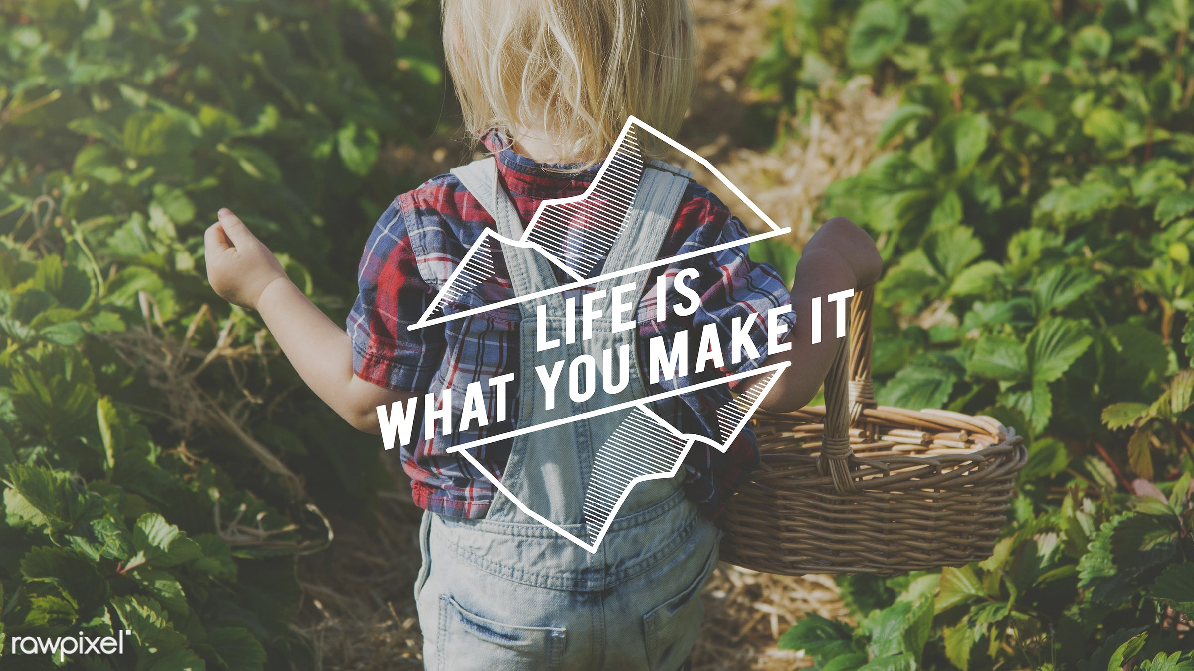 boy, action, attitude, basket, blonde, caucasian, change, dare, don't be afraid to be great, dungarees, farm, freedom, fruit...