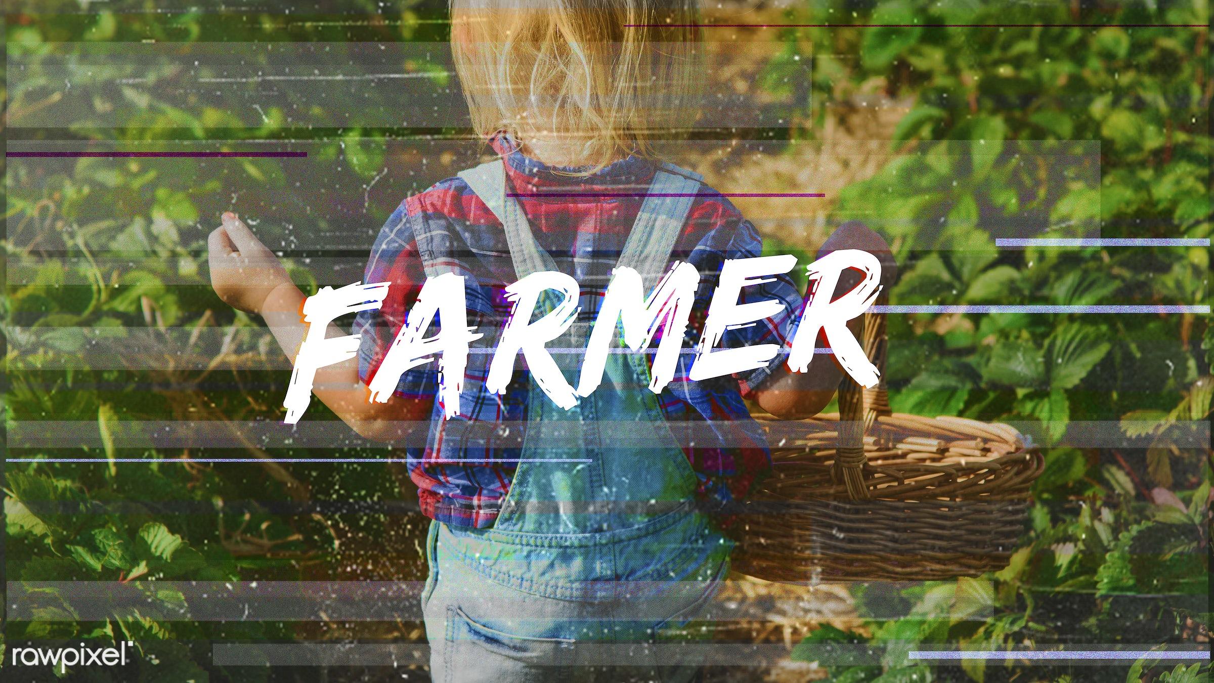strawberry, basket, blonde, boy, caucasian, dungarees, eco, ecology, environment, environmental, farm, farmer, farming,...