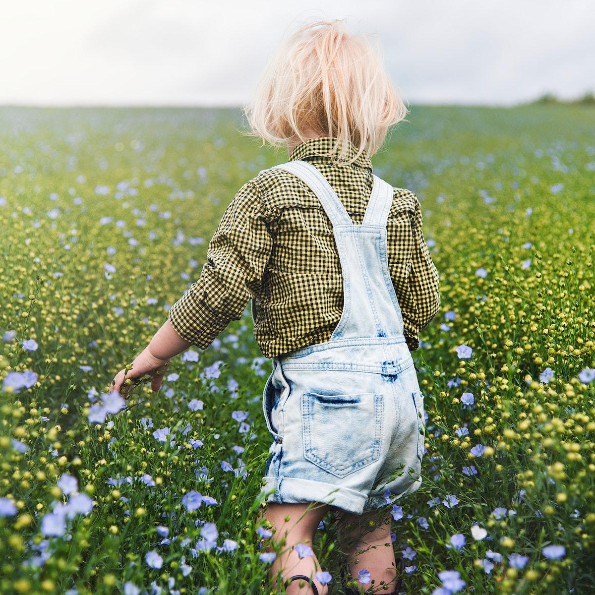 Kid in the garden