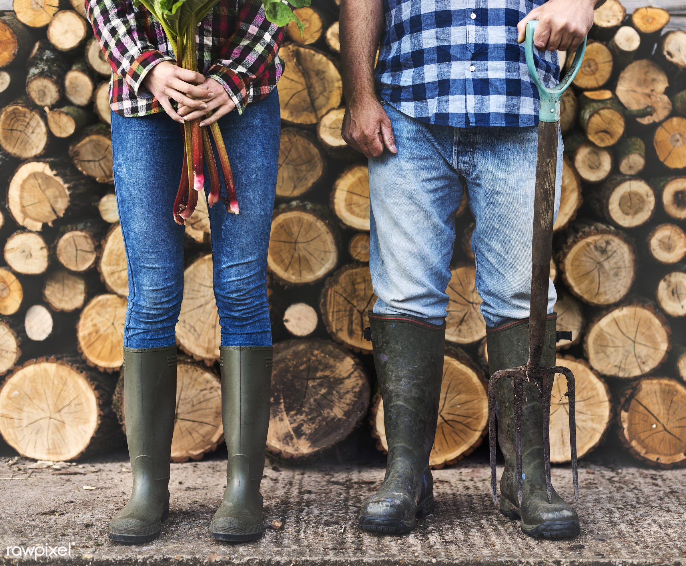 Farmers and timbers - chopped, countryside, cut, farmer, firewood, gardener, log, lumber, nature, people, pile, resource,...