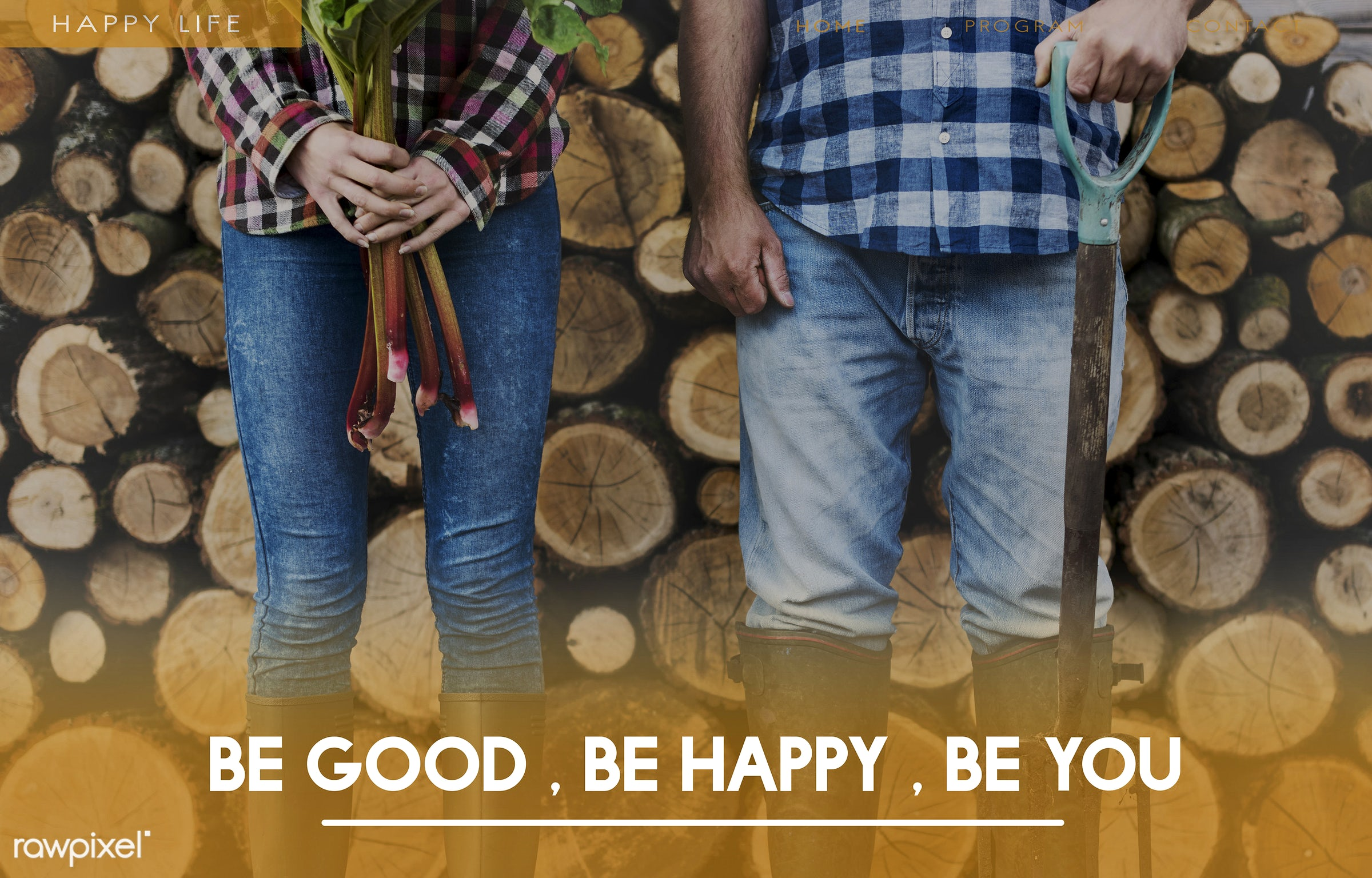 be good, be happy, be you, be yourself, believe, caucasian, farm, farmer, firewood, hands, happy, holding, individual, jeans...
