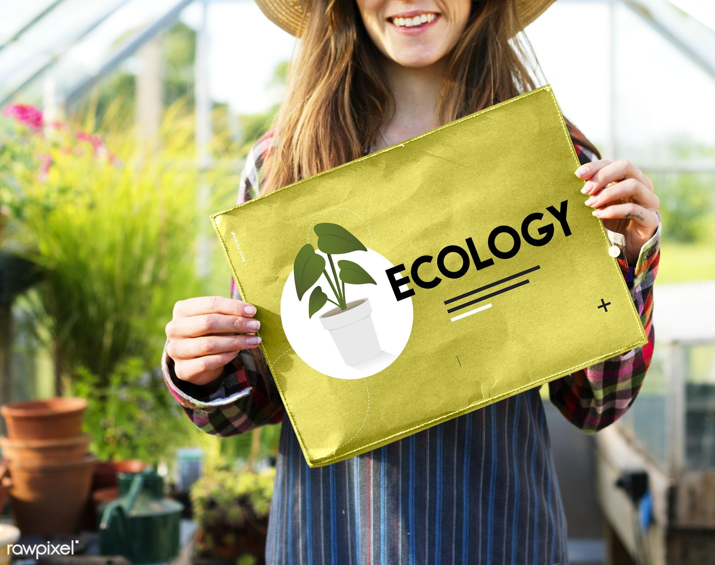 adult, caucasian, countryside, dark blonde, eco, eco friendly, ecology, environment, environmental, farm, female, flowers,...